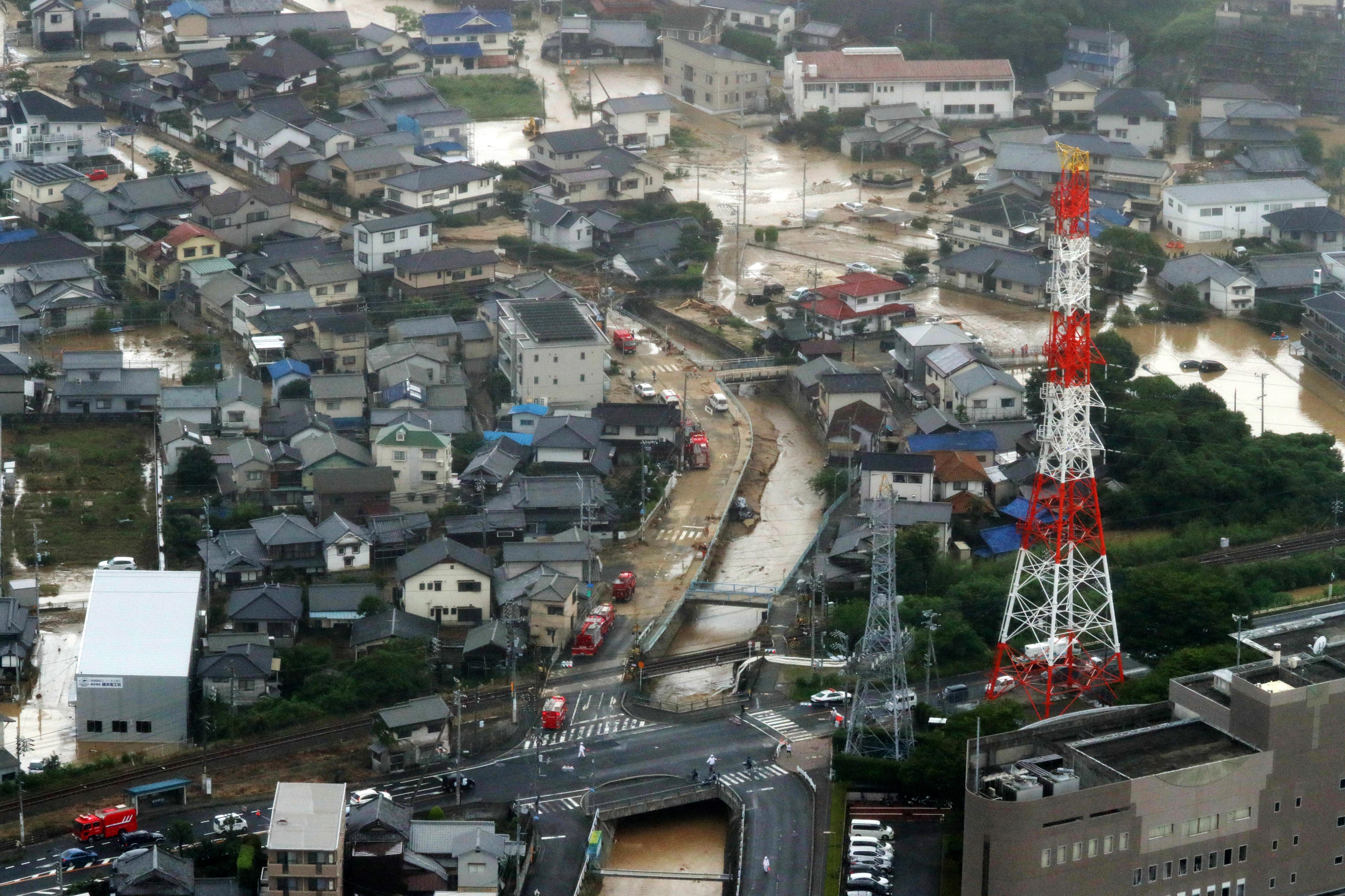 JAPAN Gotovo pedeset osoba stradalo u poplavama uslijed obilnih kiša
