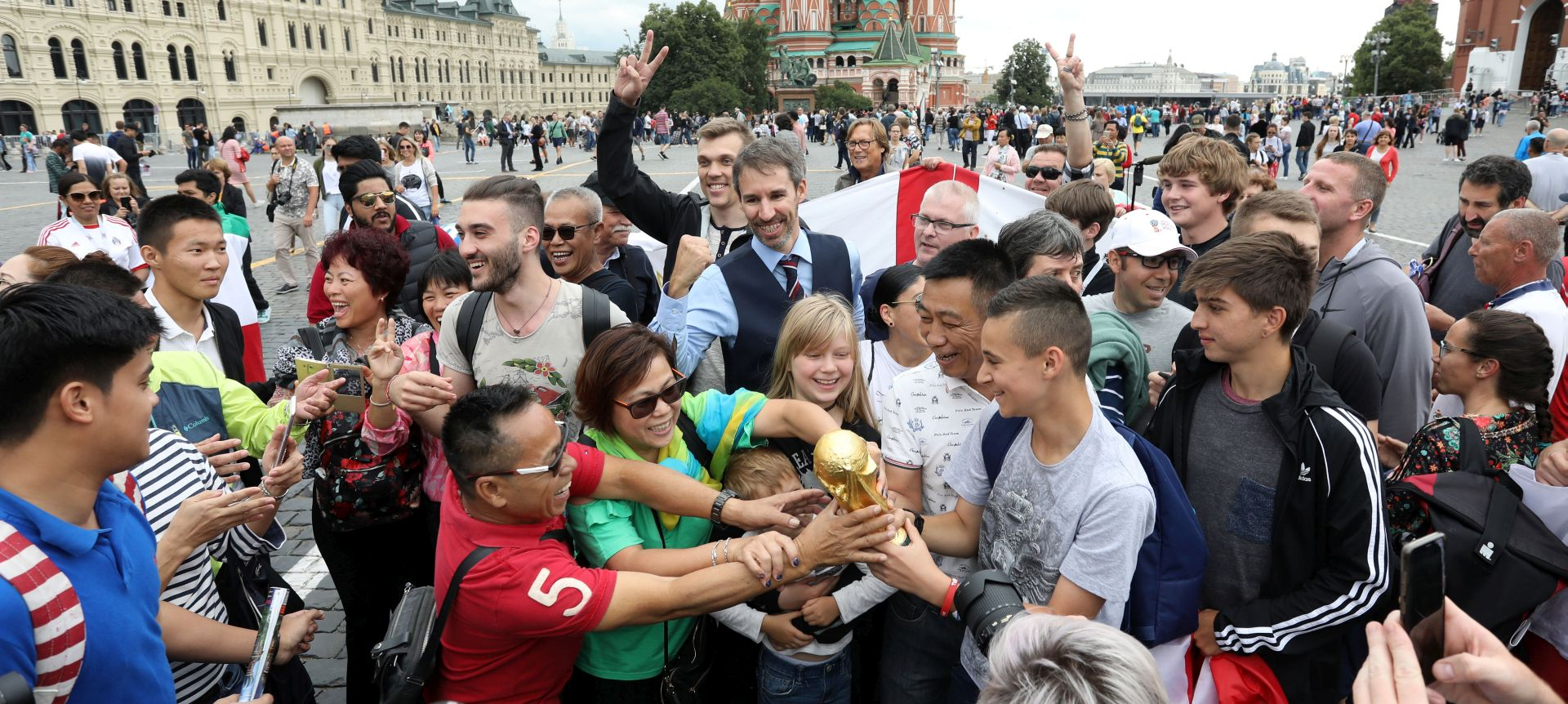 MOSKVA Southgate zvijezda na Crvenom trgu, čeka se navijačka zastava