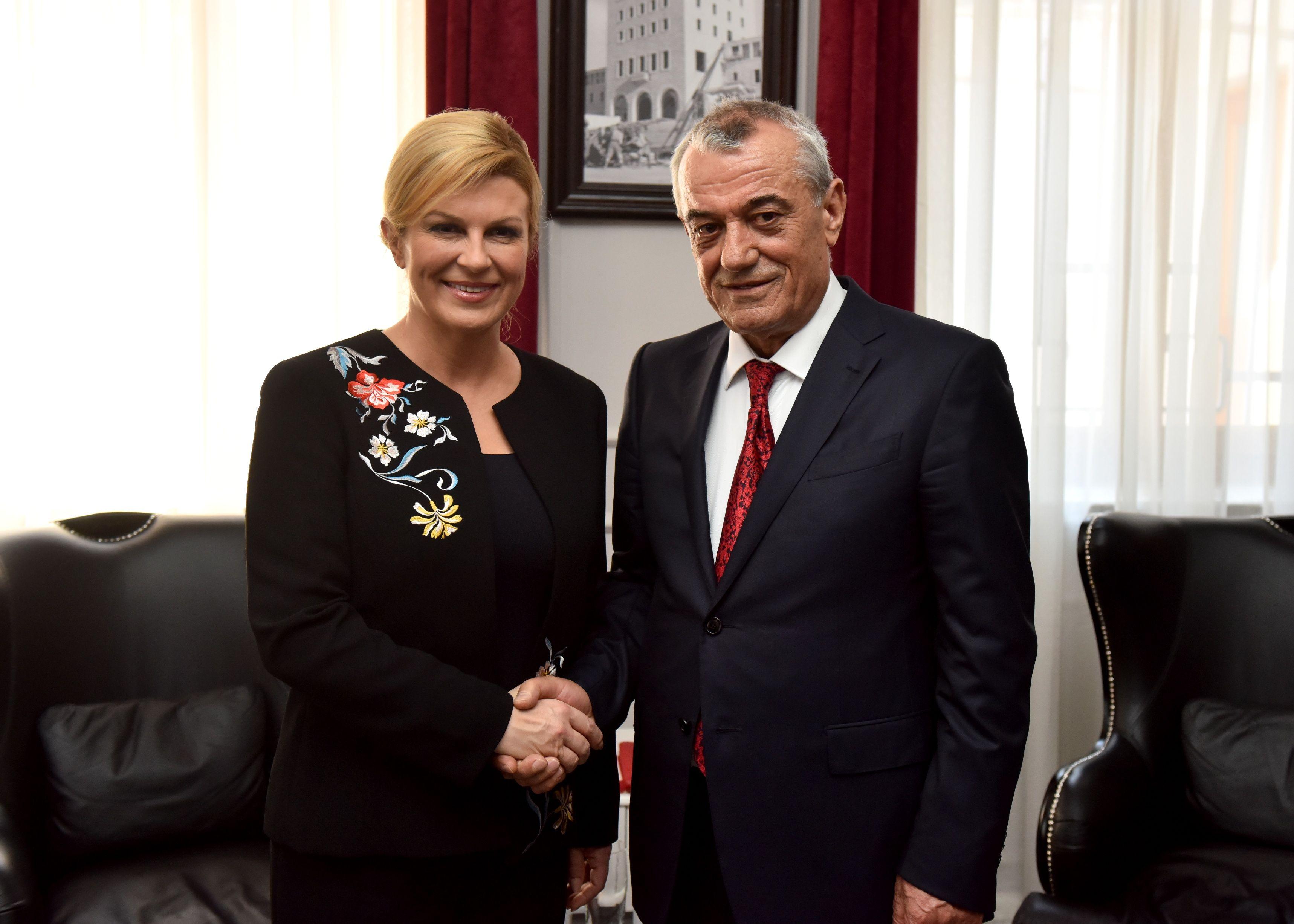 Grabar-Kitarović i Rama izrazili težnju jačanju gospodarskih veza Hrvatske i Albanije