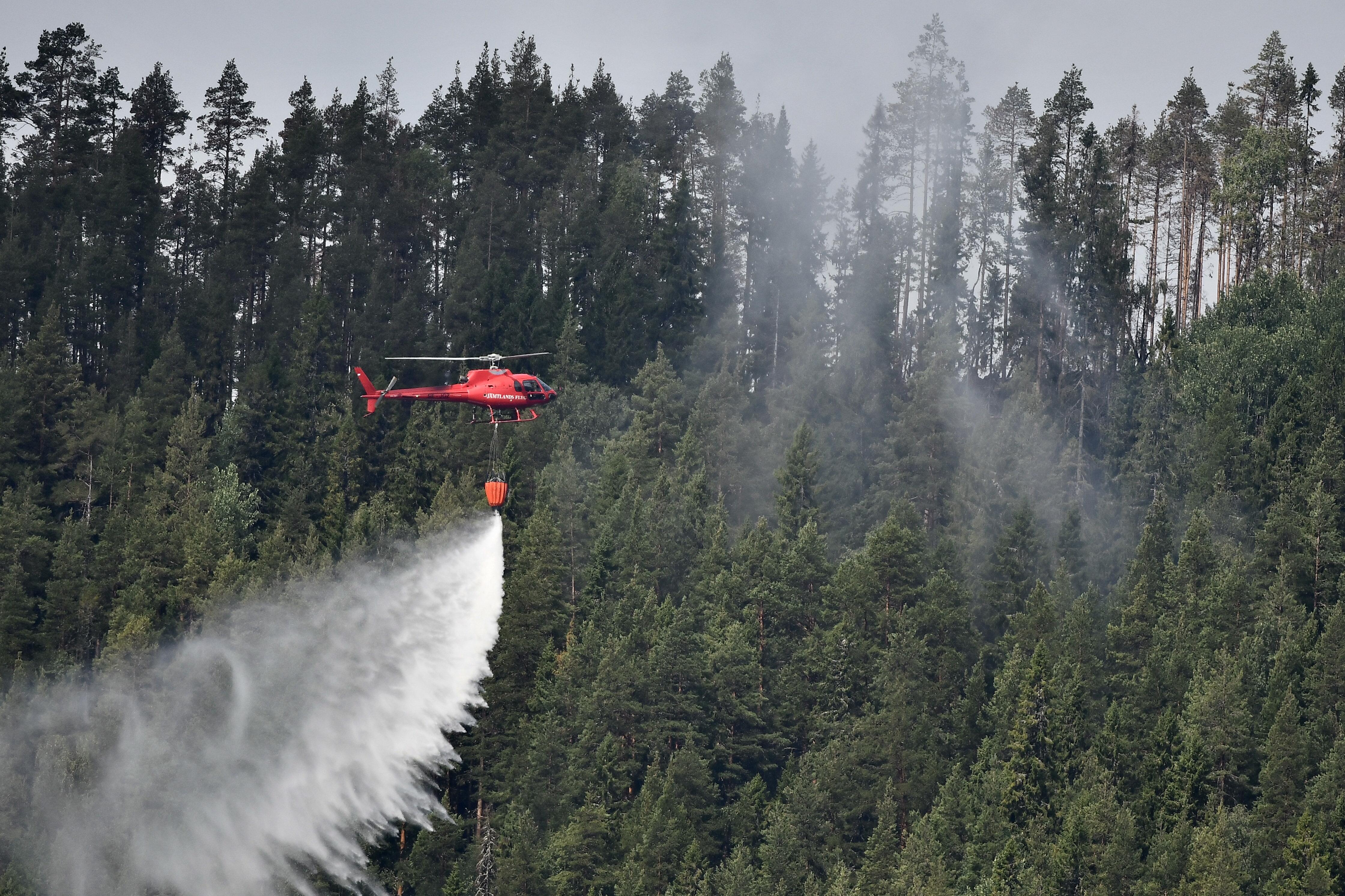Šumski požari u Švedskoj više se ne šire