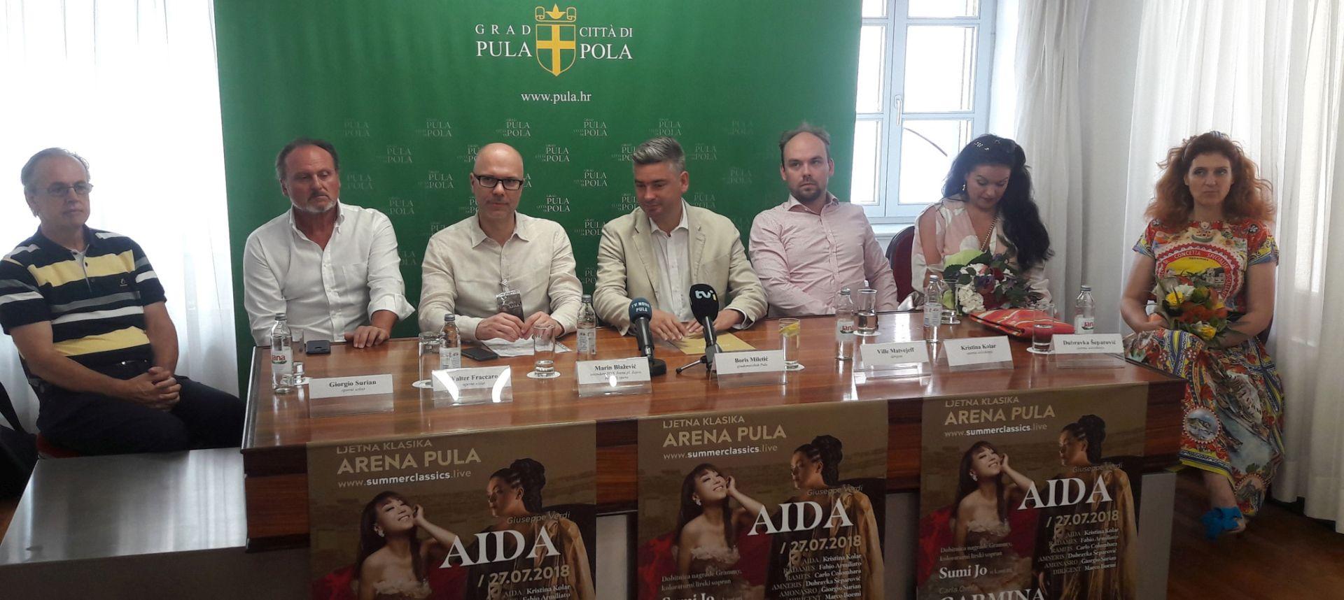 """""""Aida"""" i """"Carmina burana"""" za Ljeto klasike u Puli"""
