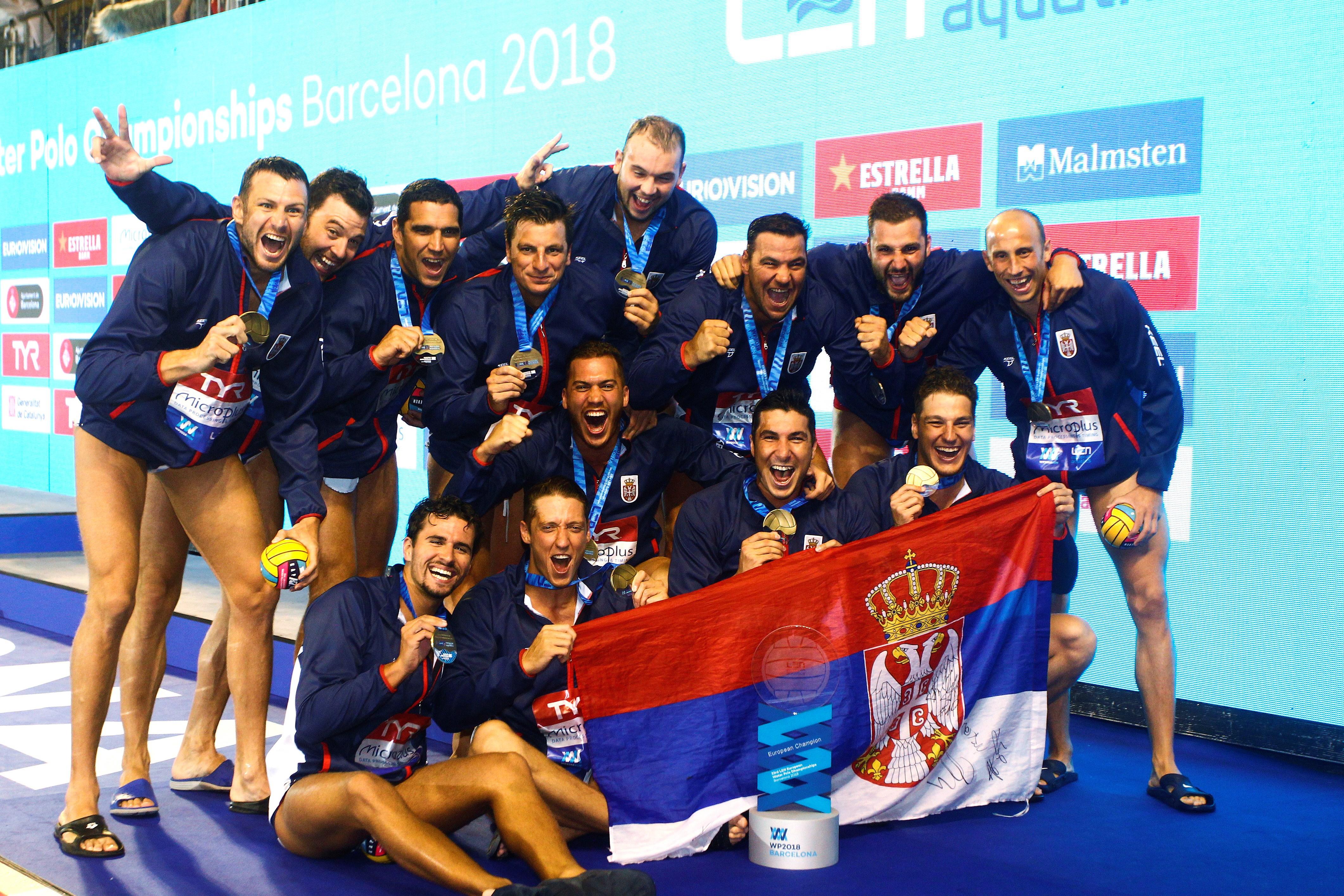 VATERPOLO Srbiji europsko zlato