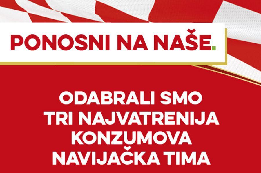 Konzumovi zaposlenici su vatreni navijači hrvatskih reprezentativaca