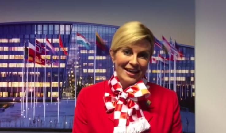 VIDEO Predsjednica Vatrenima poslala poruku iz Bruxellesa