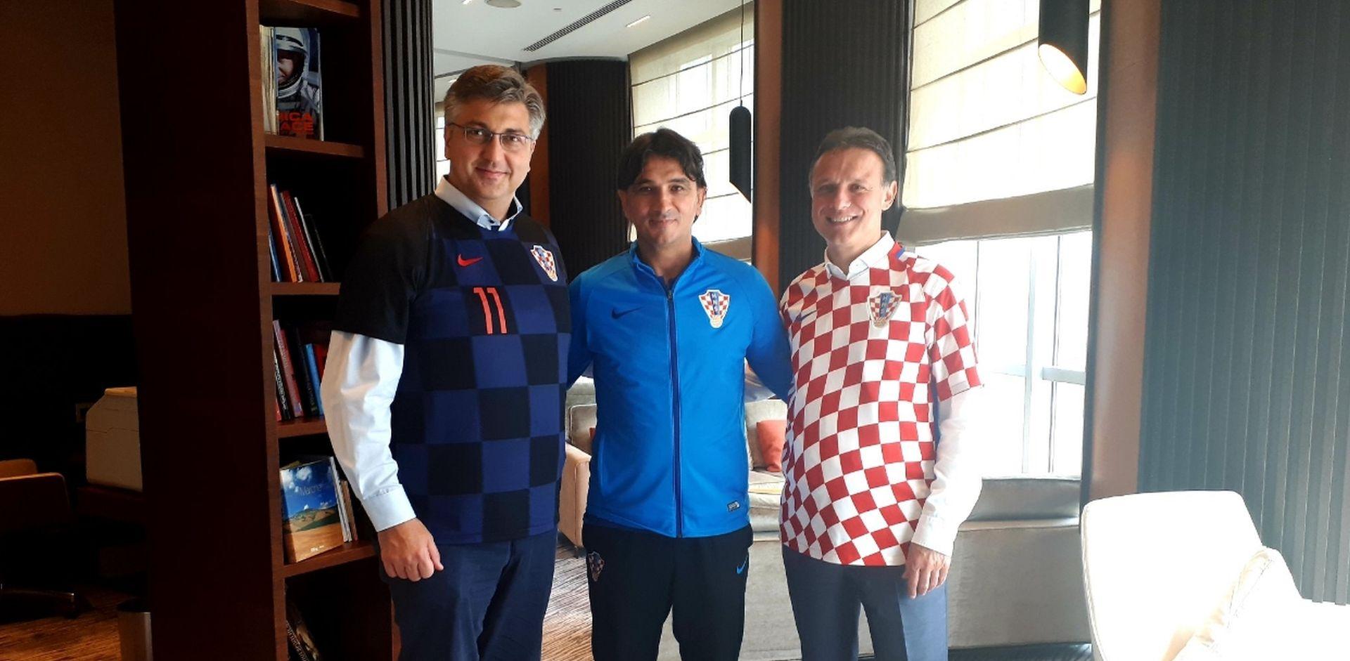 Plenković i Jandroković s Dalićem u Moskvi