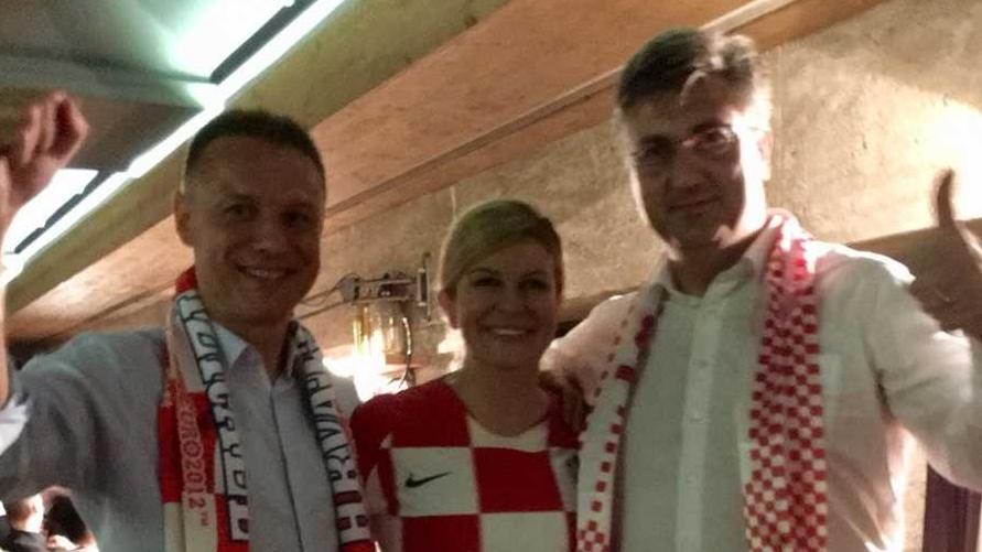 Grabar Kitarović, Plenković i Jandroković zajedno pratili doček