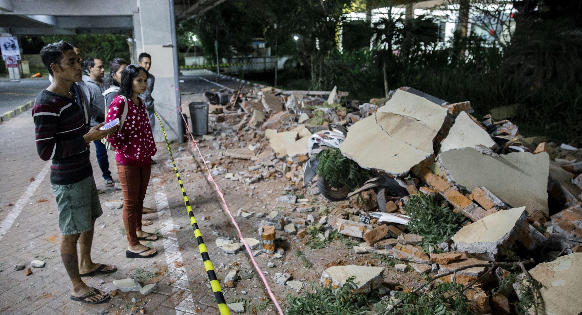 Raste broj žrtava potresa u Indoneziji, najmanje 91 poginula osoba