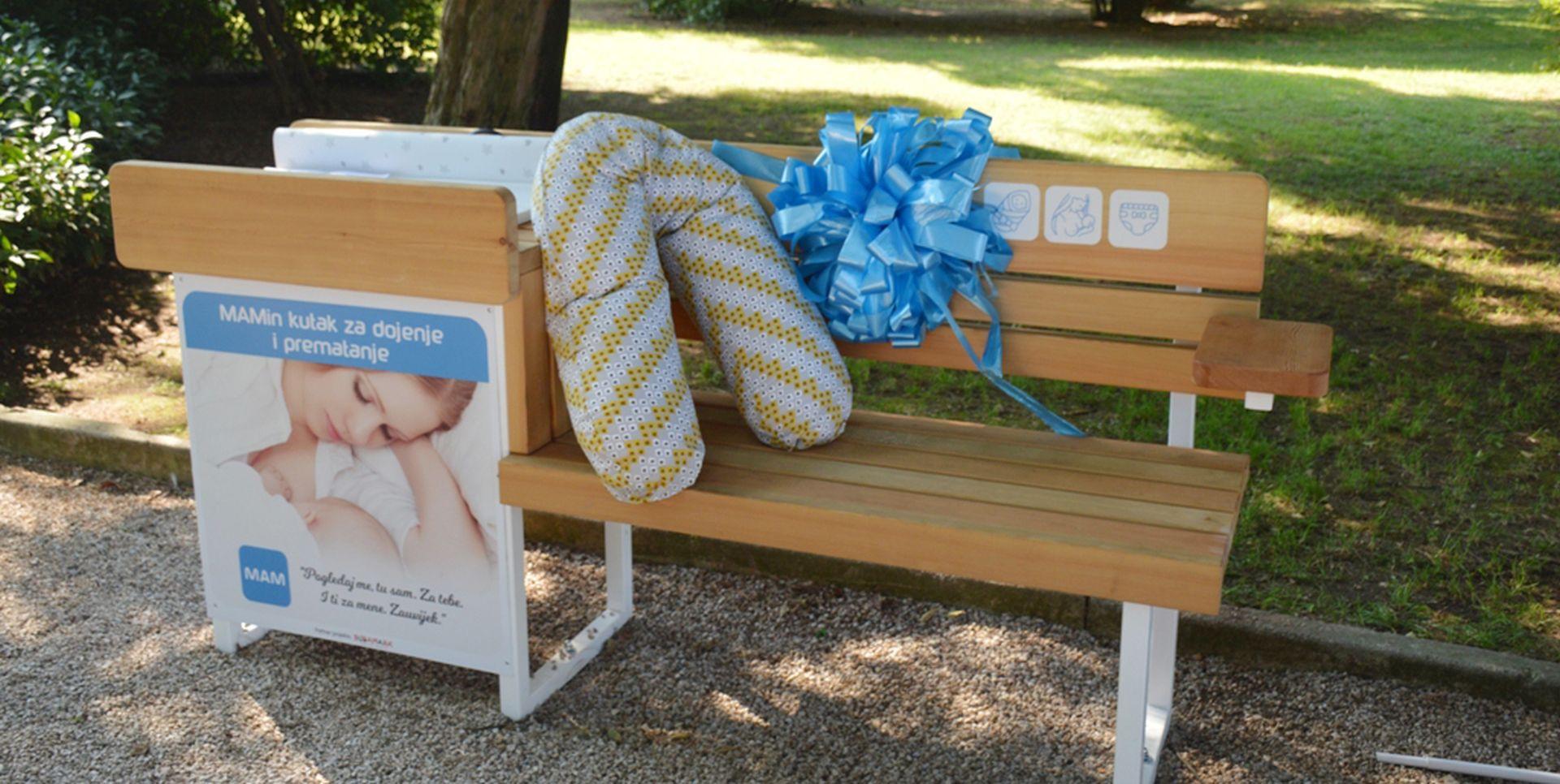 Prva MAM klupica za dojenje u Puli