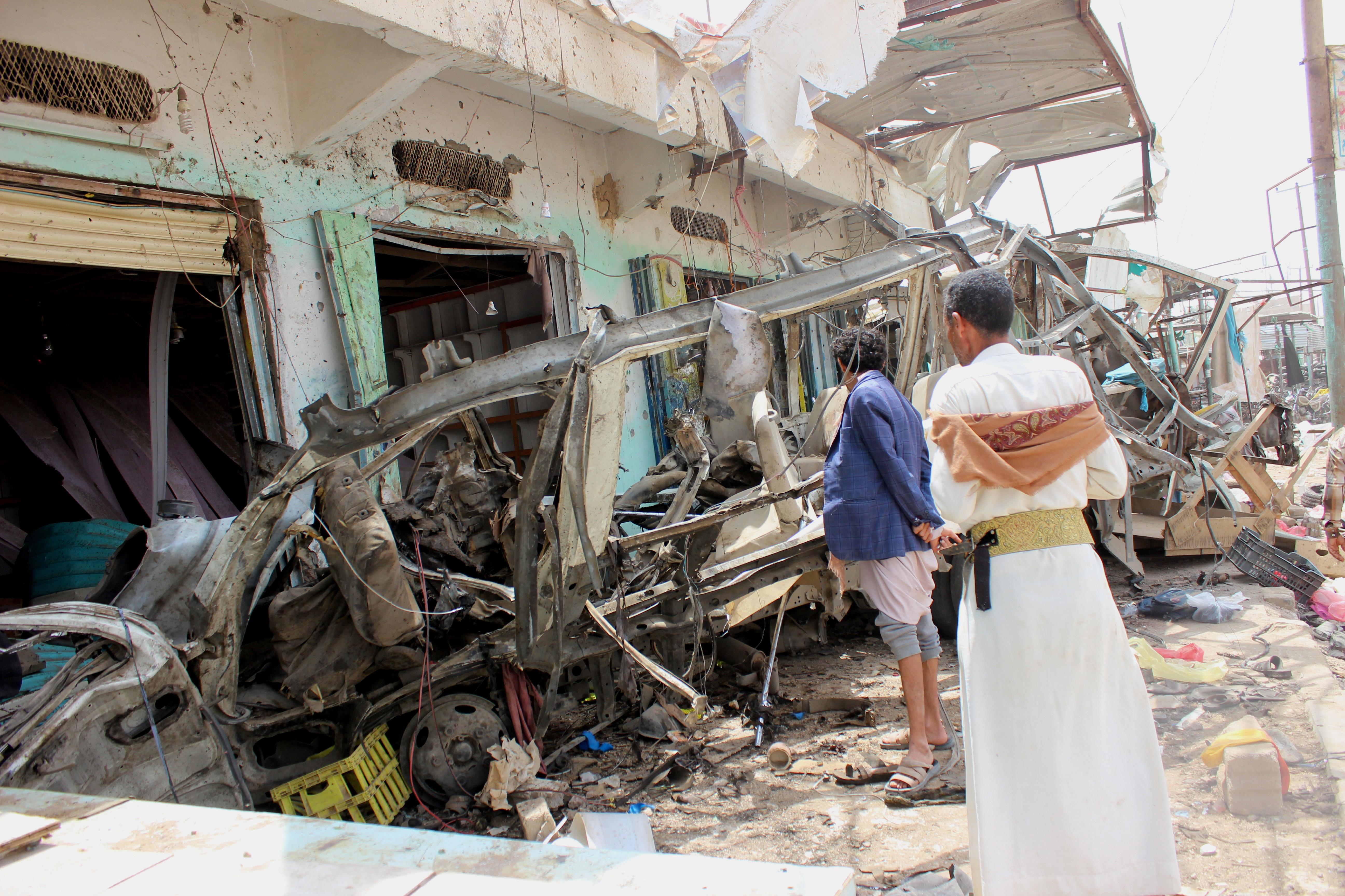 JEMEN Prosvjedi na sprovodu djece stradale u zračnom napadu