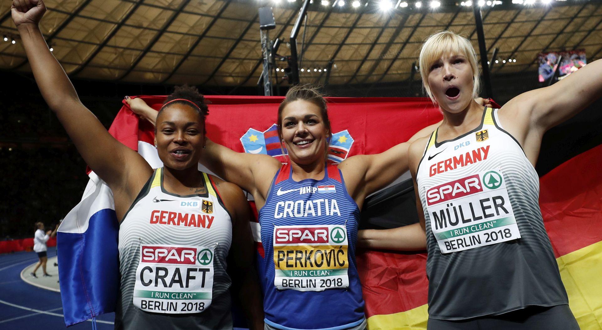PETO UZASTOPNO ZLATO!! Sandra Perković europska prvakinja