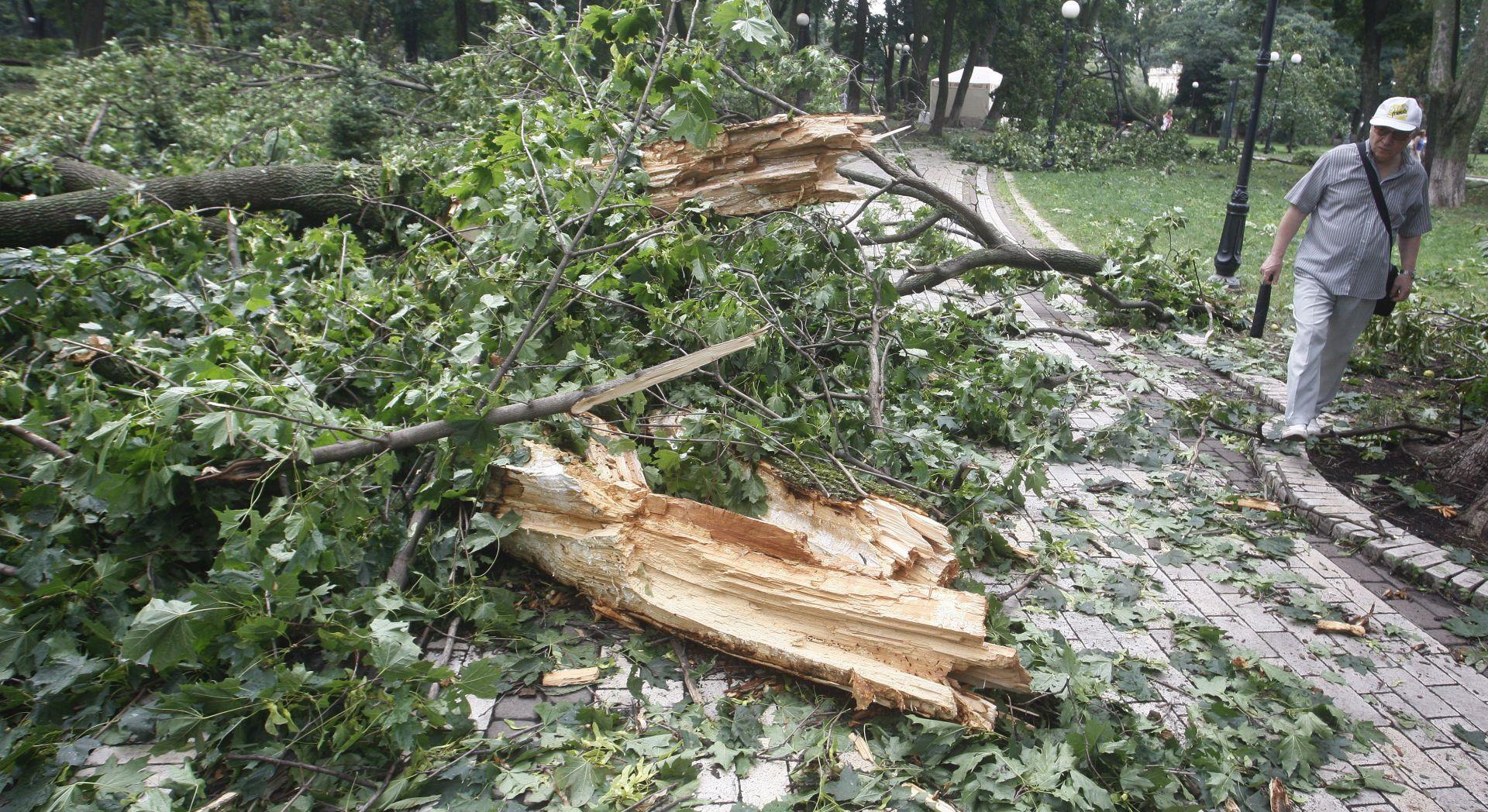 Snažna oluja u Slovačkoj i Poljskoj čupala krovove i drveće