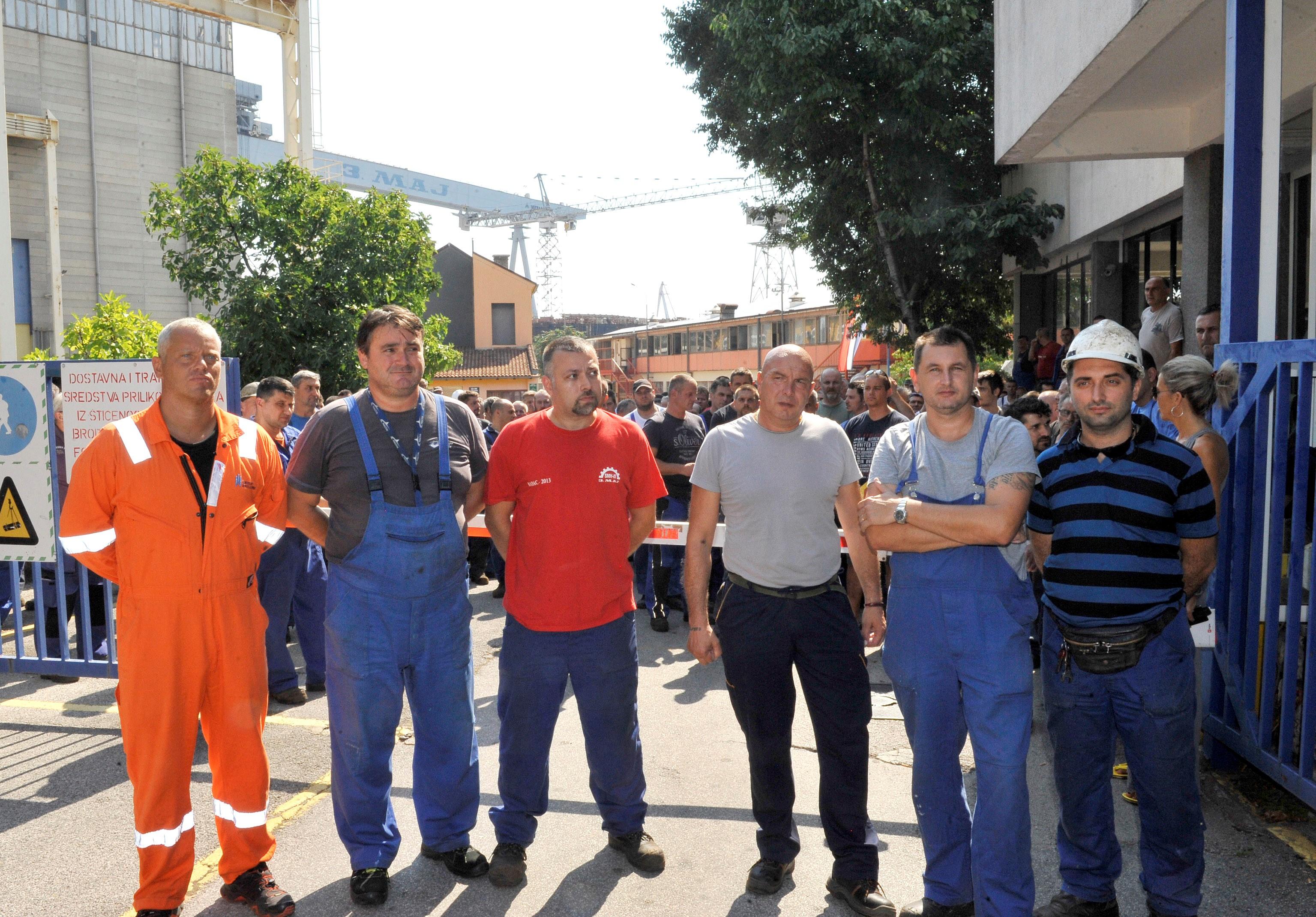 Štrajkaški odbor: Radnici Uljanika i 3. maja u ponedjeljak idu na Markov trg