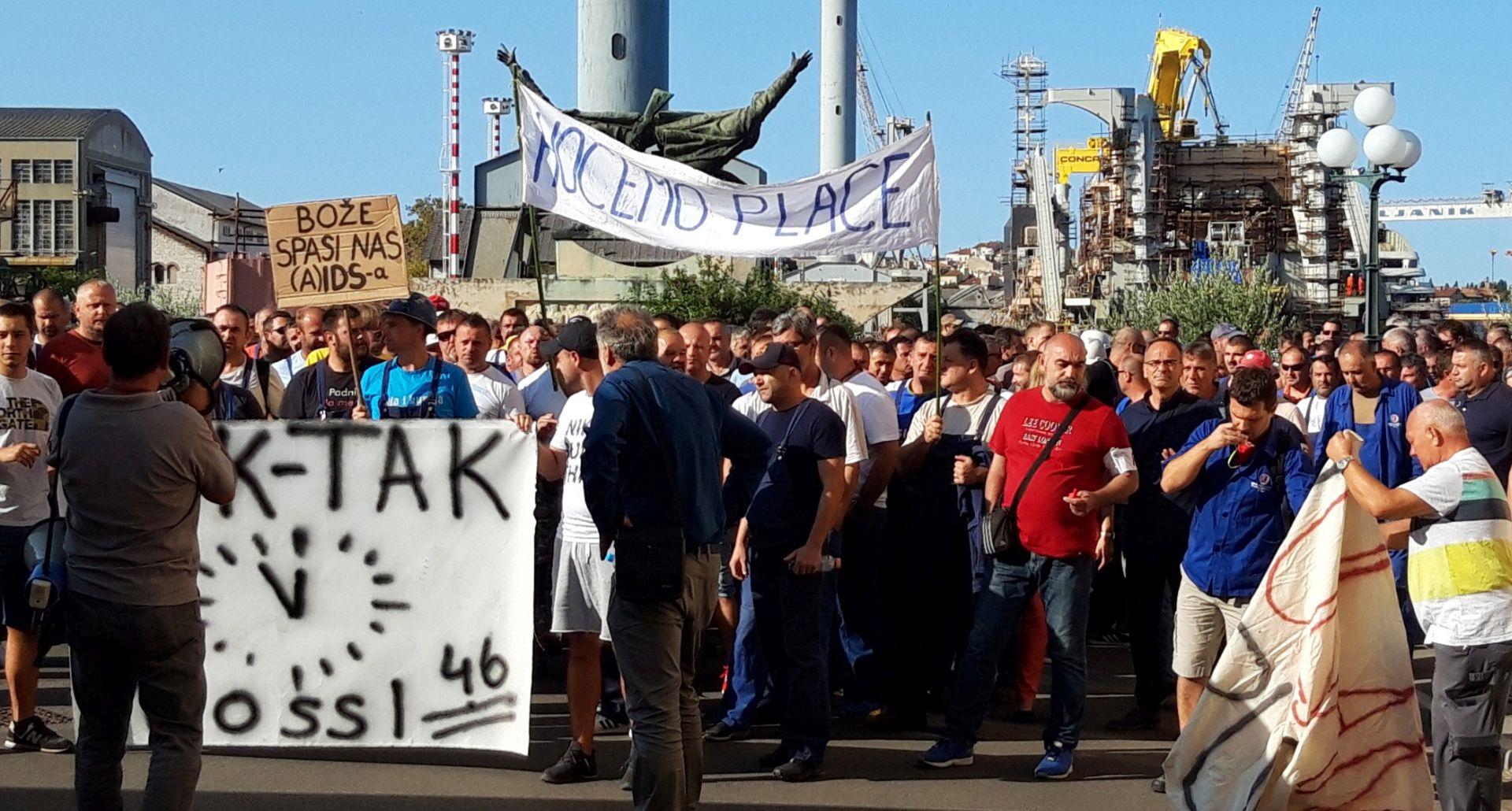 Uljanikovi radnici ponovno na ulicama Pule