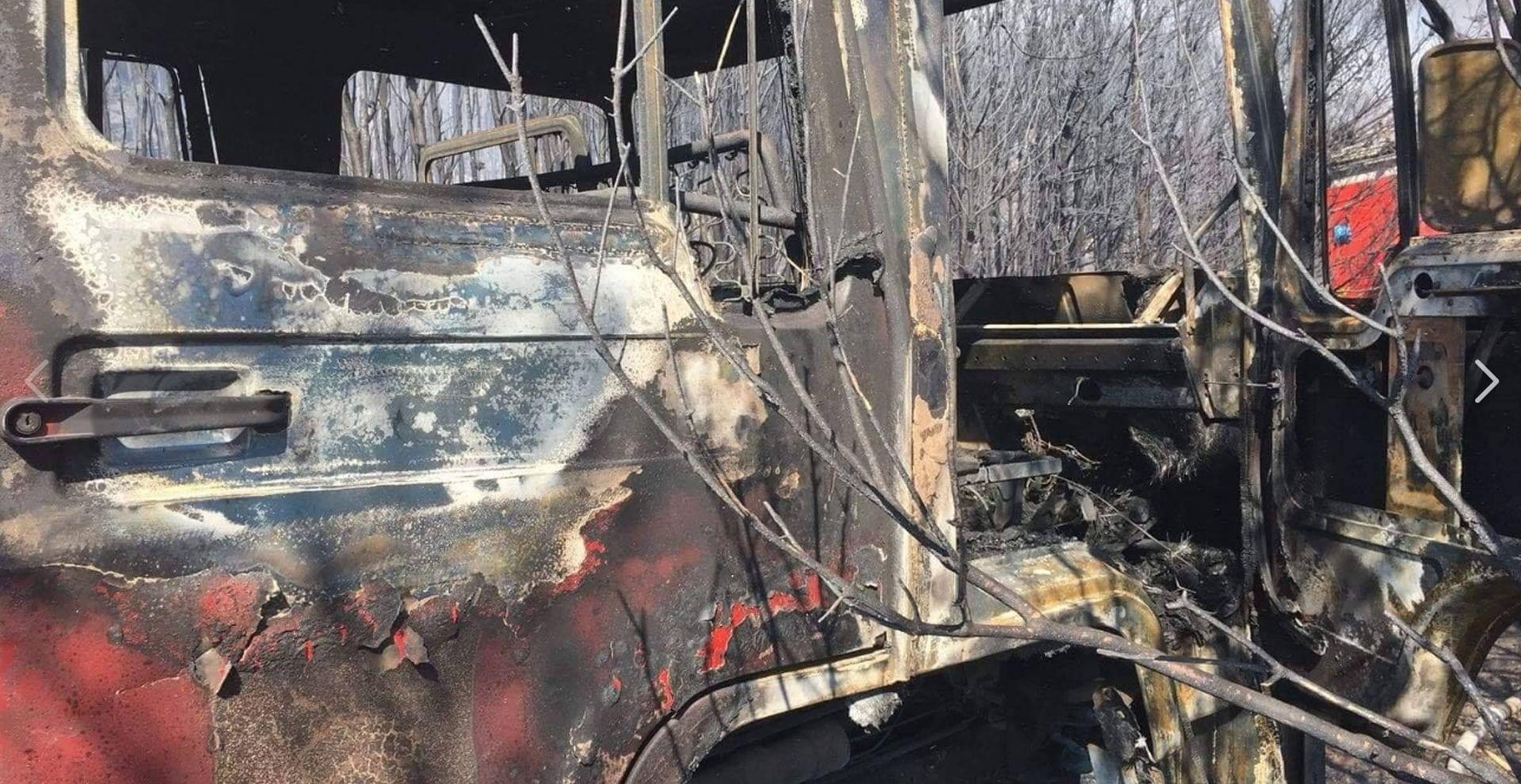 FOTO: U požaru kod Omiša izgorjele dvije vatrogasne cisterne