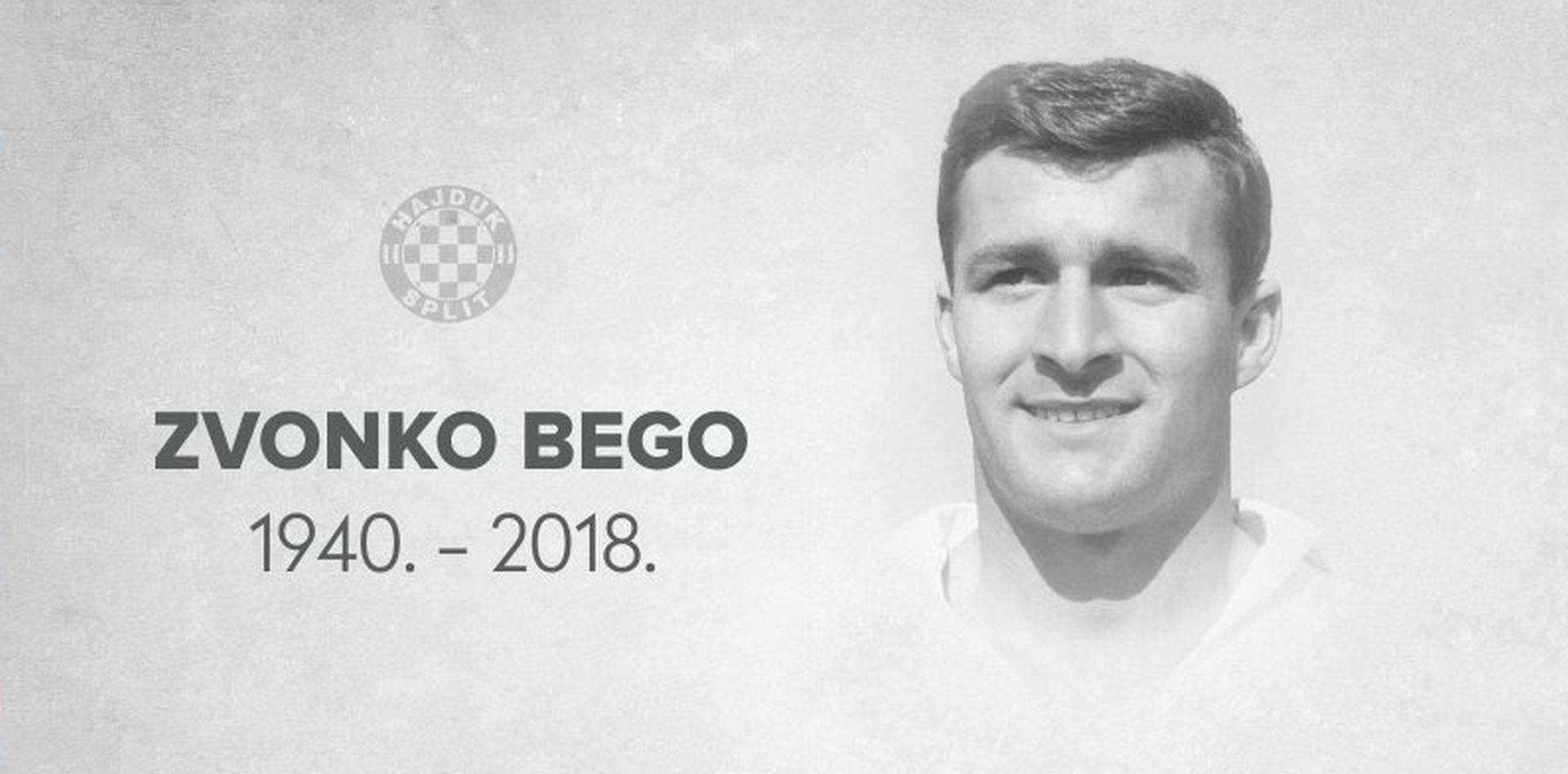 Preminuo Zvonko Bego, jedna od najvećih legendi Hajduka