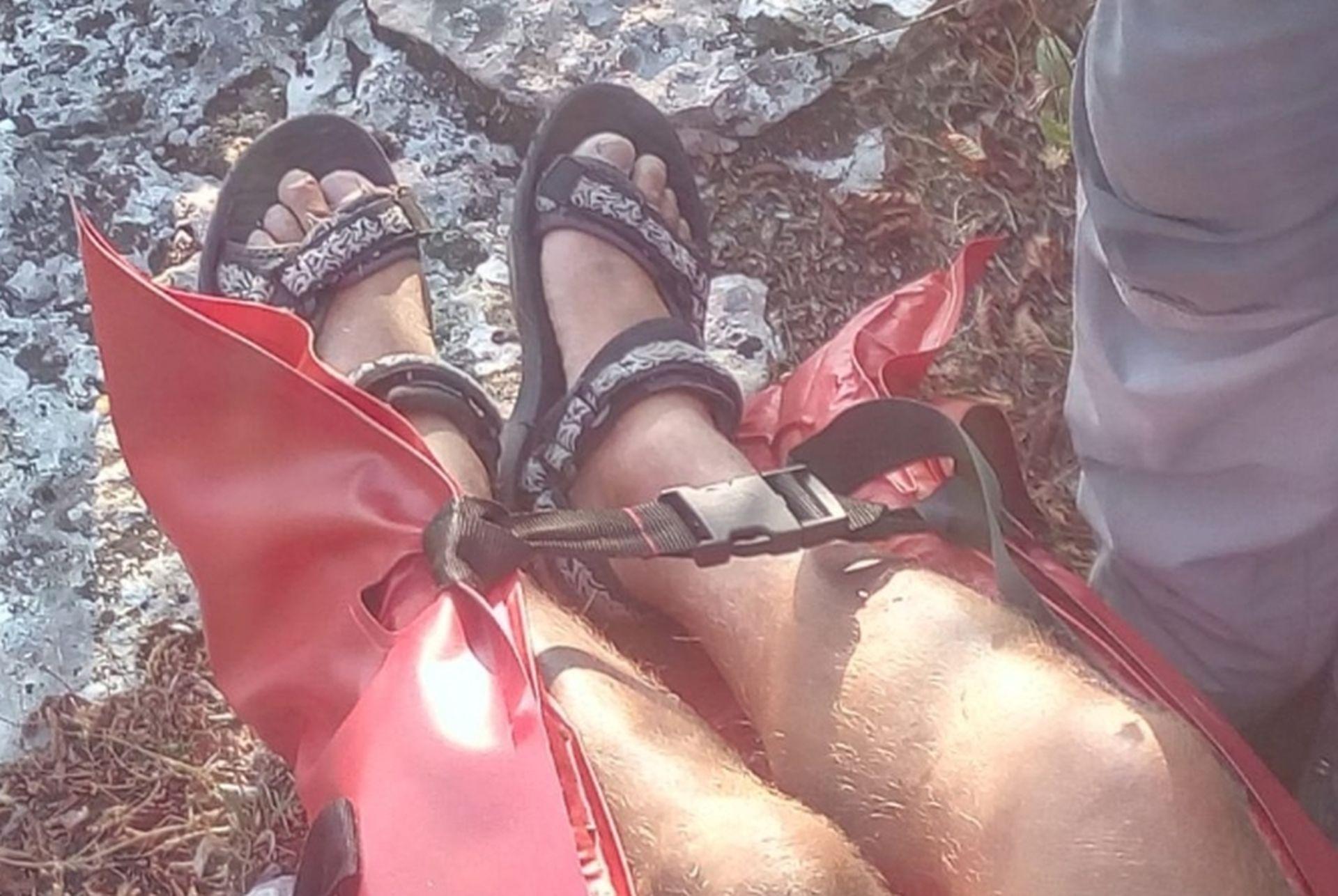 AKCIJA HGSS-A Spašen planinar koji je na penjanje krenuo u sandalama