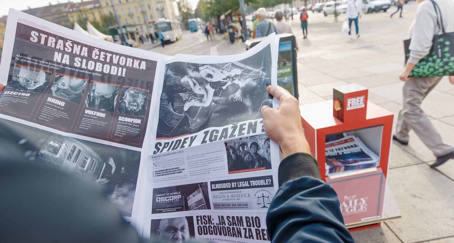 Spider-Man jutros posjetio i grad Zagreb