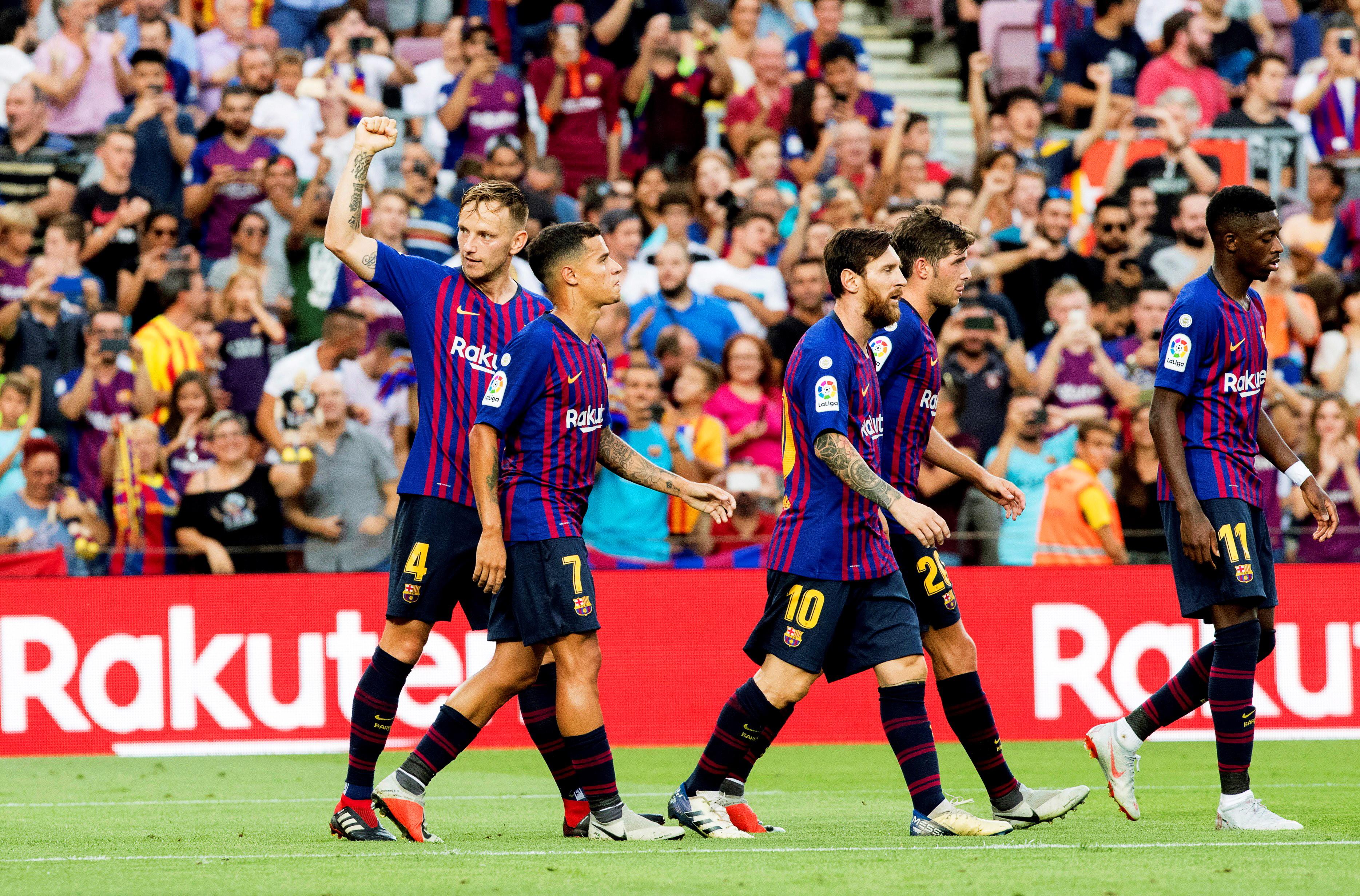 Osam pogodaka Barcelone, Rakitić strijelac i asistent