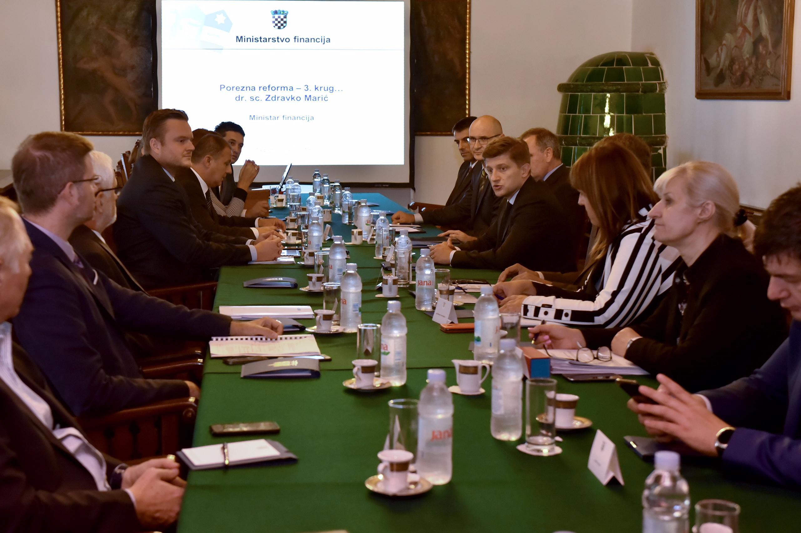 Vijeće za gospodarska pitanja predsjednice s Marićem o poreznoj reformi