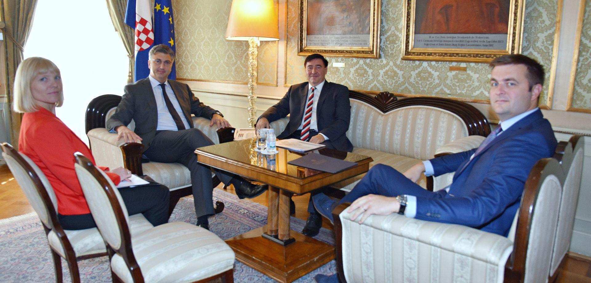 Plenković s predsjednikom Uprave Ine o budućnosti kompanije
