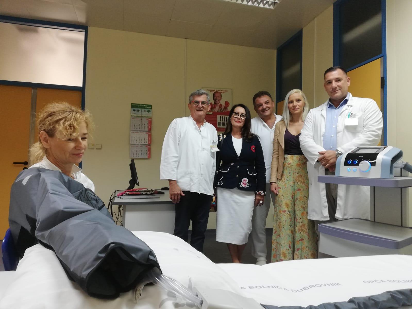 DUBROVNIK Donacija aparata za limfnu drenažu
