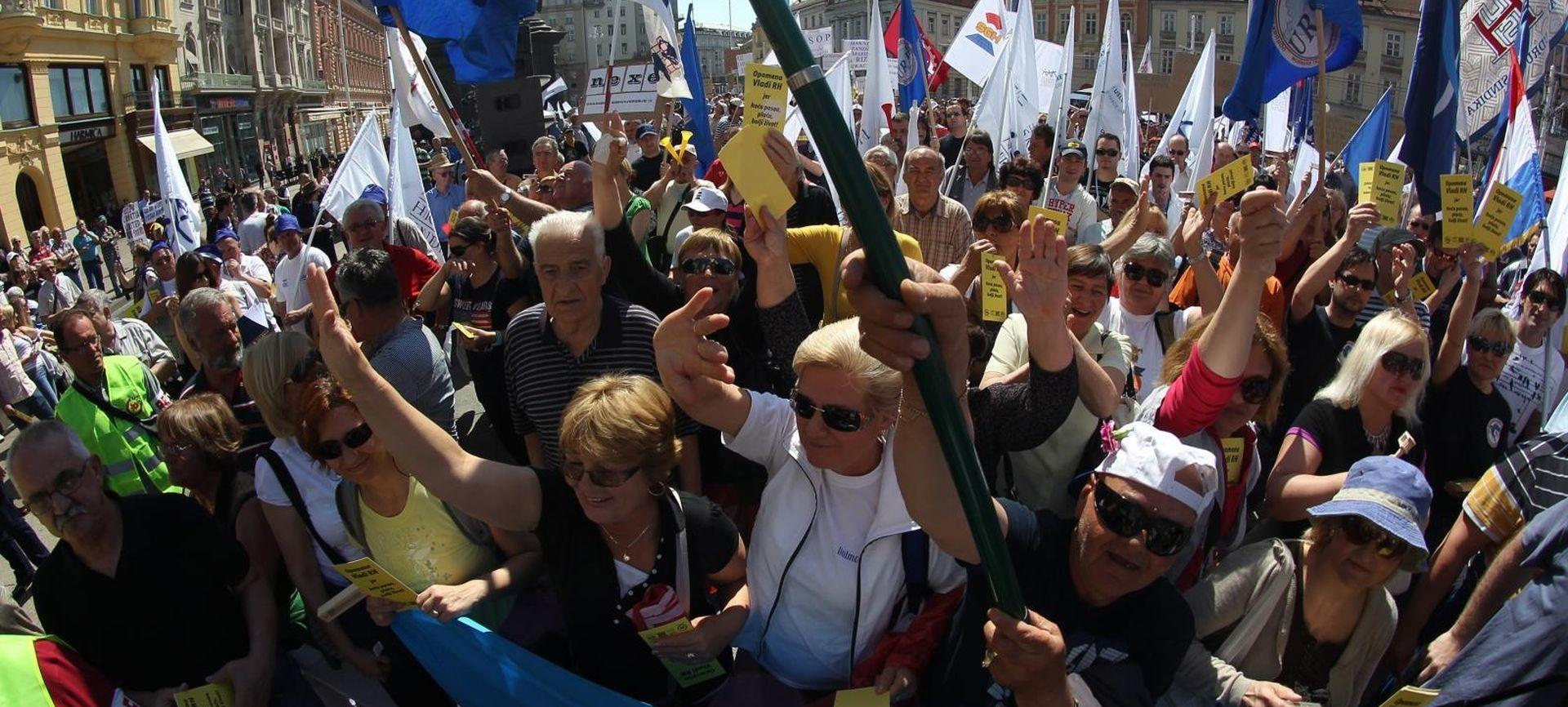 """SINDIKATI """"Do održavanja prosvjeda razgovara s ministarstvom više nema"""""""