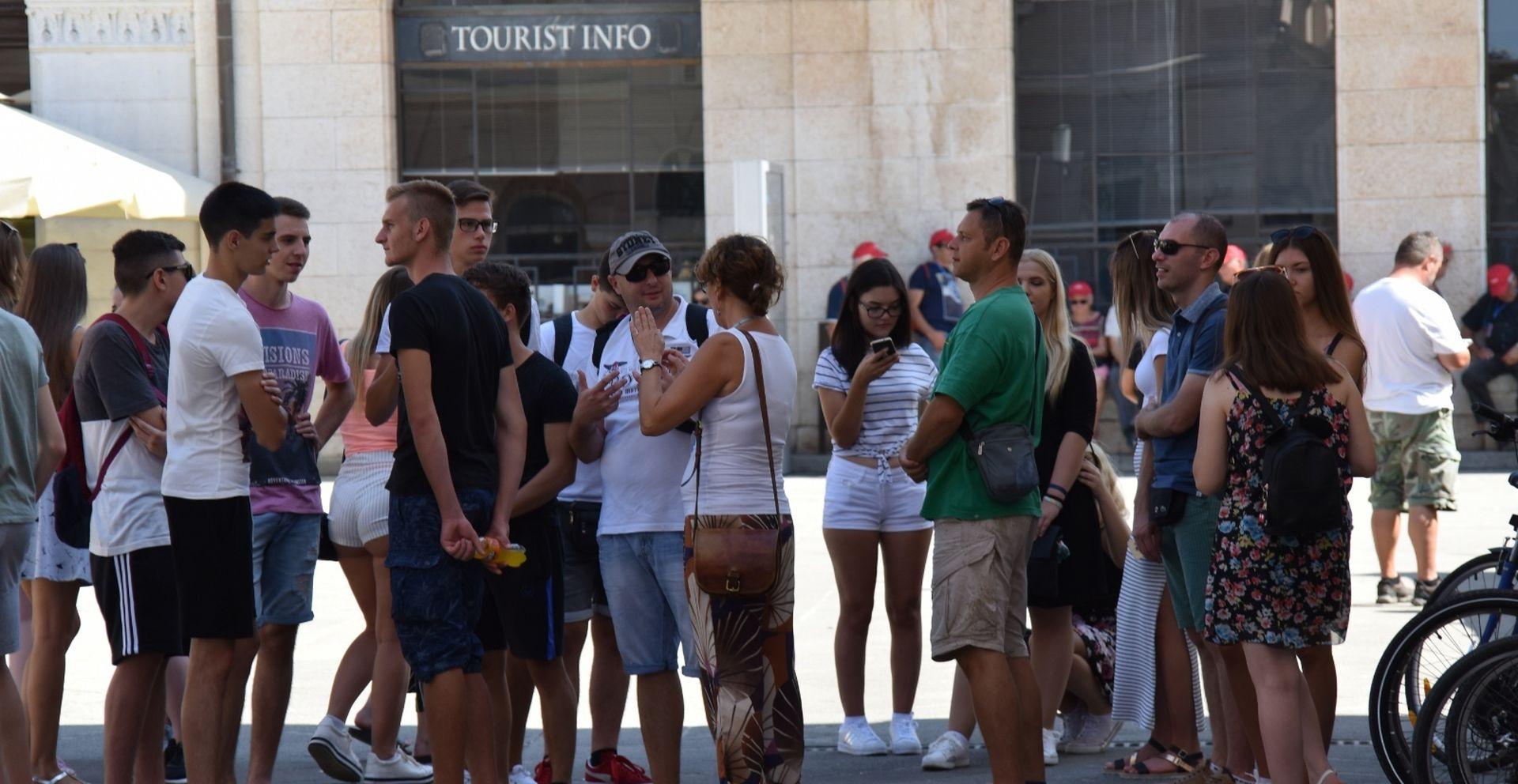 Do kraja kolovoza 5 posto više turista