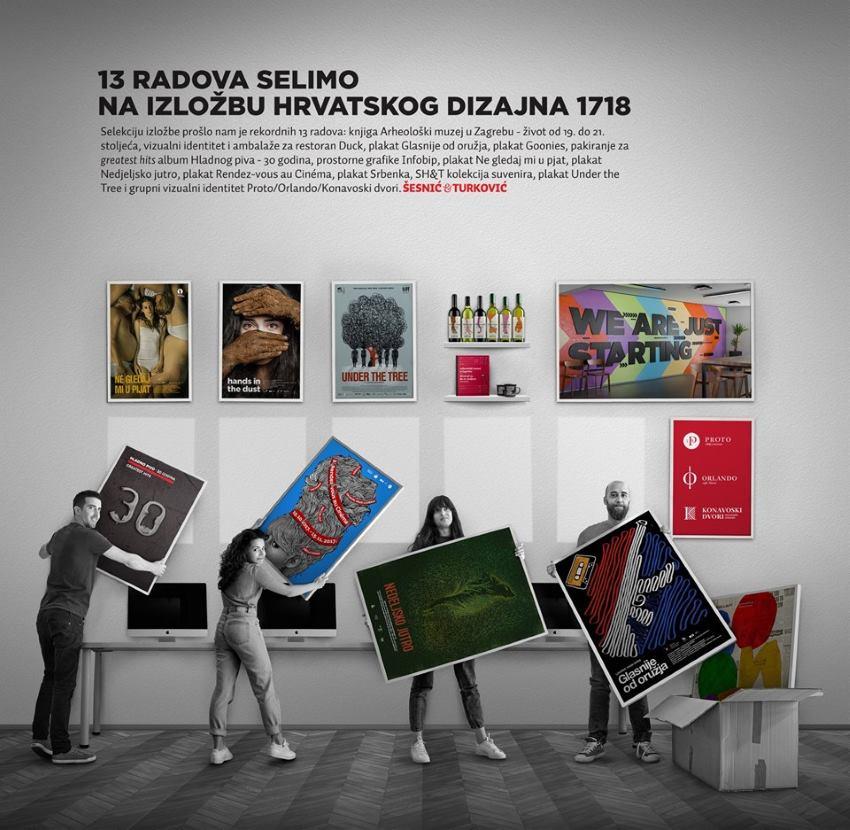 Rekordnih trinaest radova studija Šesnić&Turković na 'Izložbi Hrvatskog dizajna 1718'
