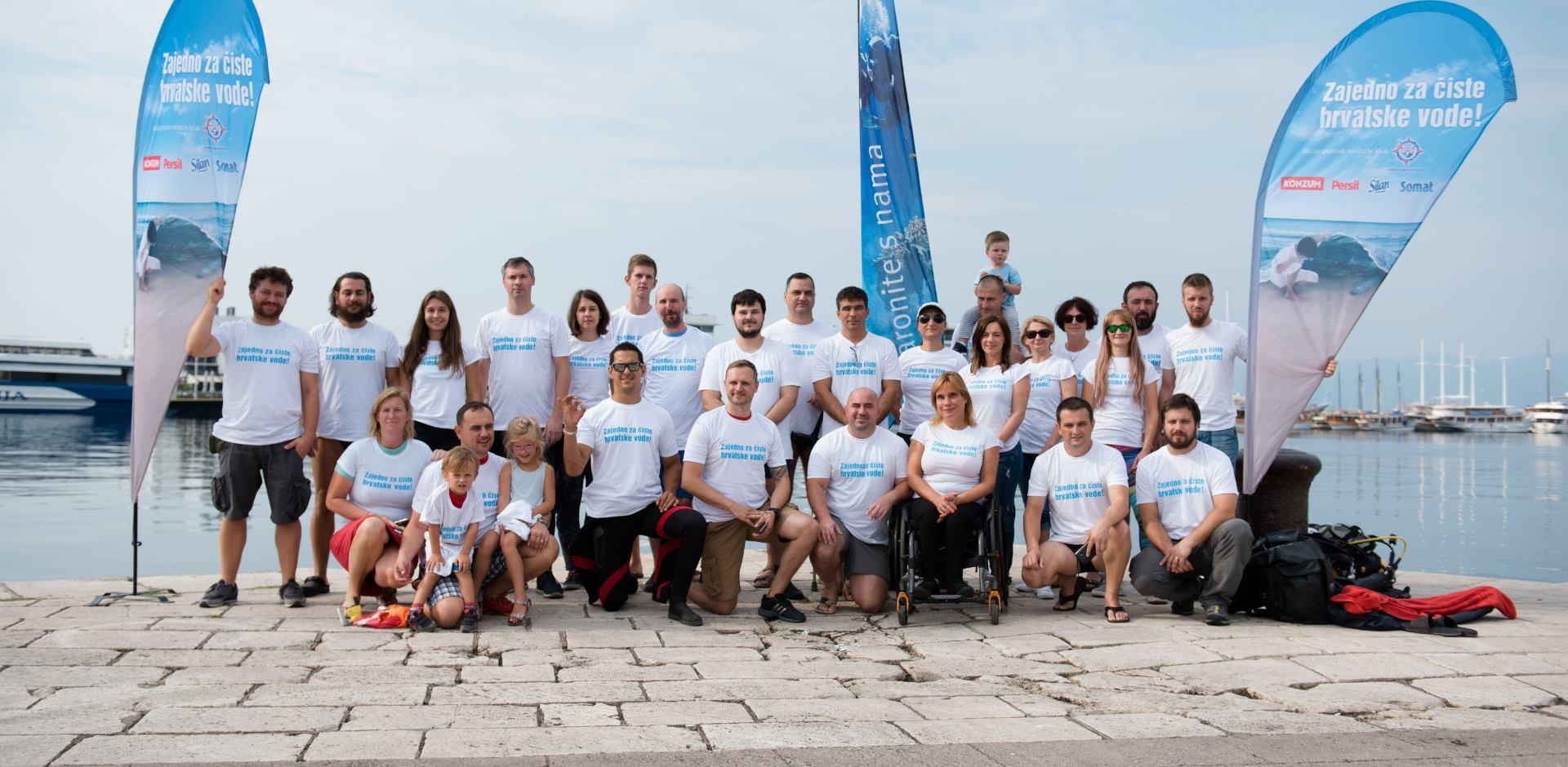 Akcijom čišćenja mora u Rijeci završena sezona projekta 'Zajedno za čiste hrvatske vode'