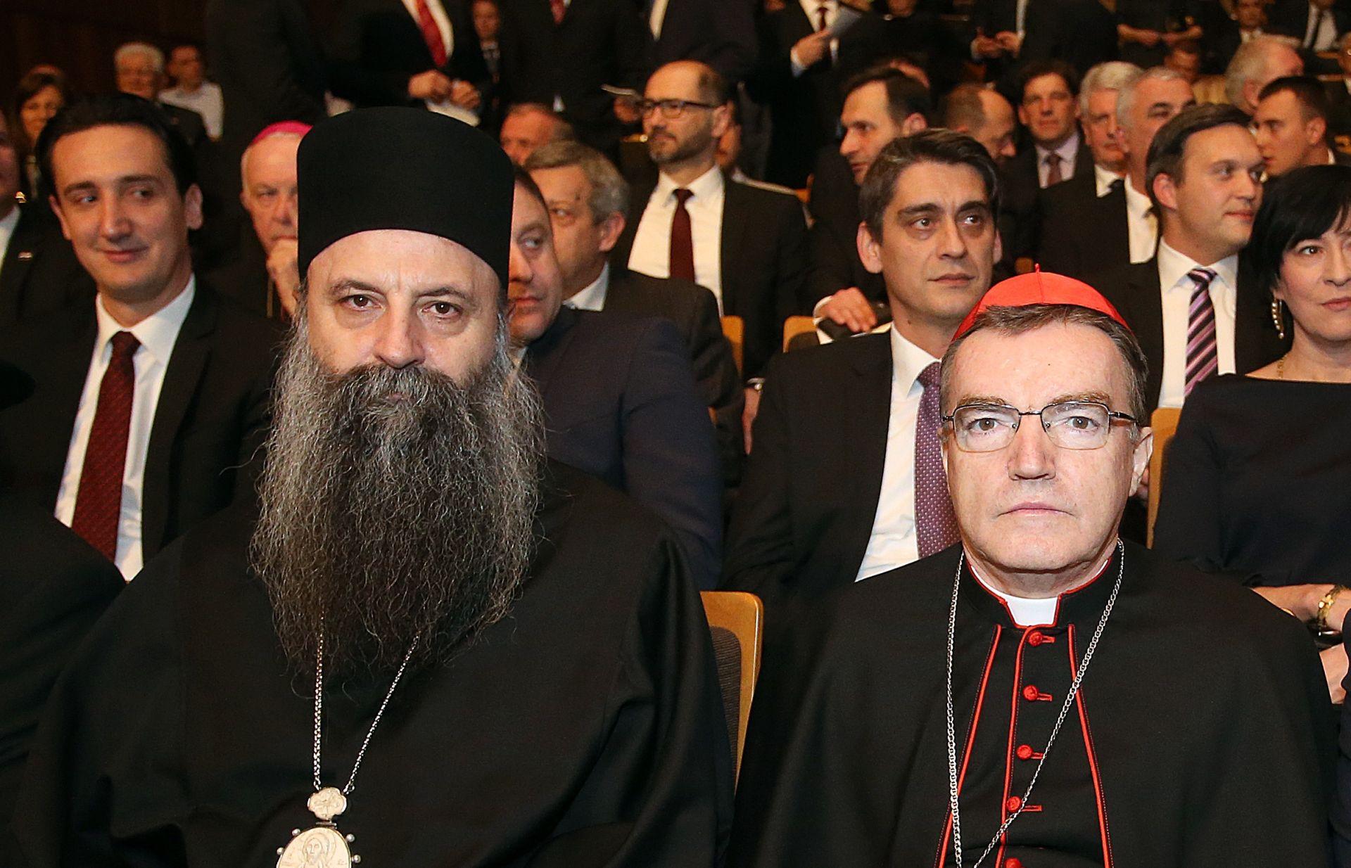 Kardinal Bozanić s mitropolitom Porfirijem