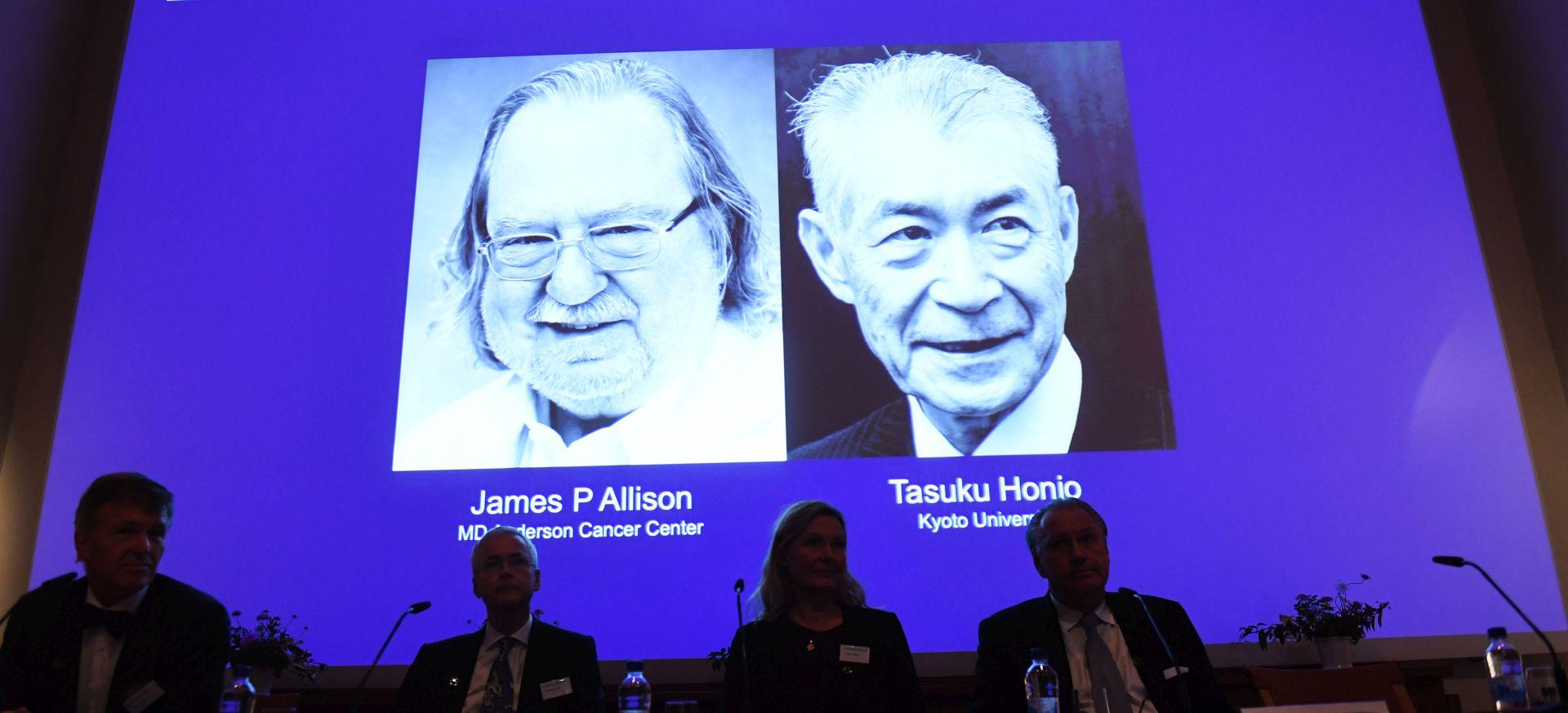 Nobel za medicinu Jamesu Allisonu i Tasukuu Honju