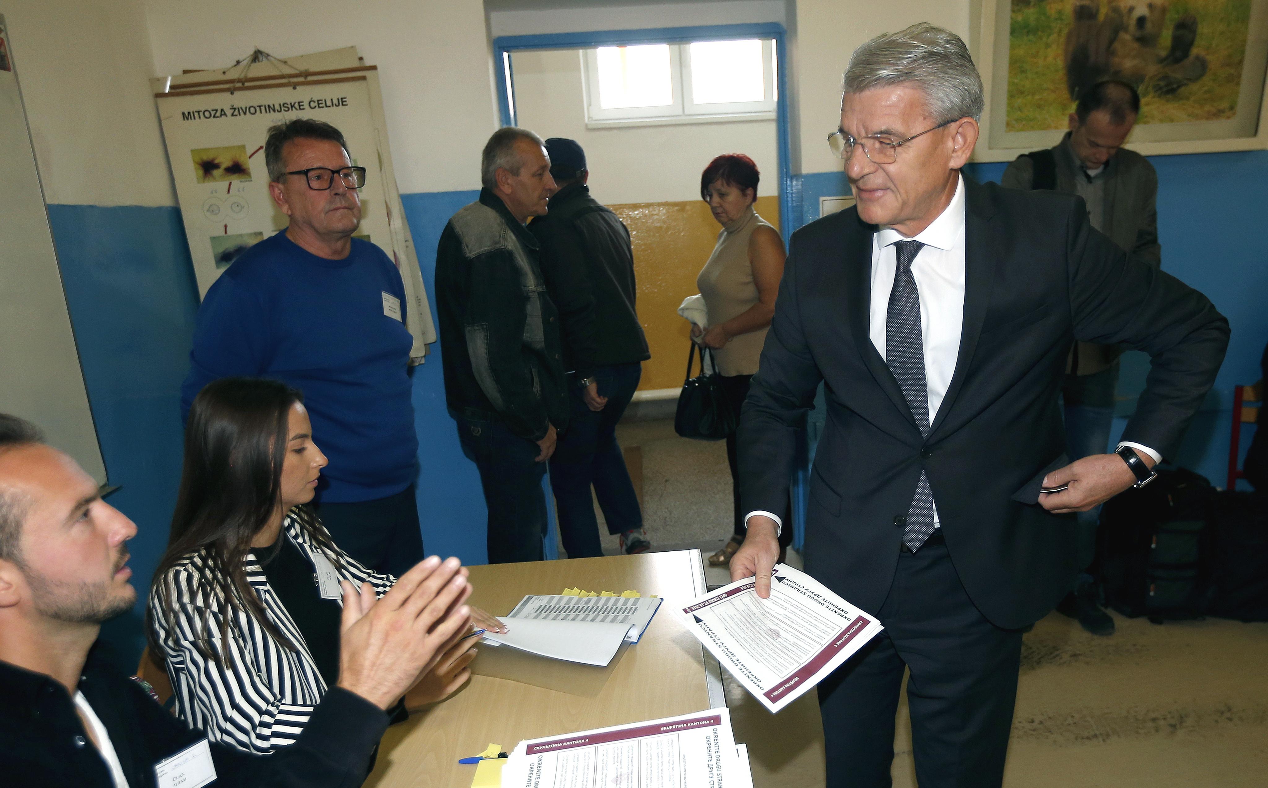Na uzorku od 20 posto vode Džaferović, Komšić i Dodik