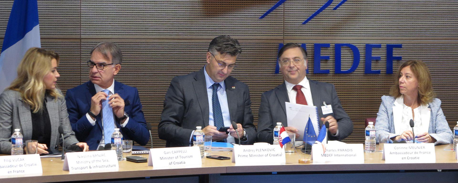 Plenković francuskim poduzetnicima predstavio mogućnosti za suradnju