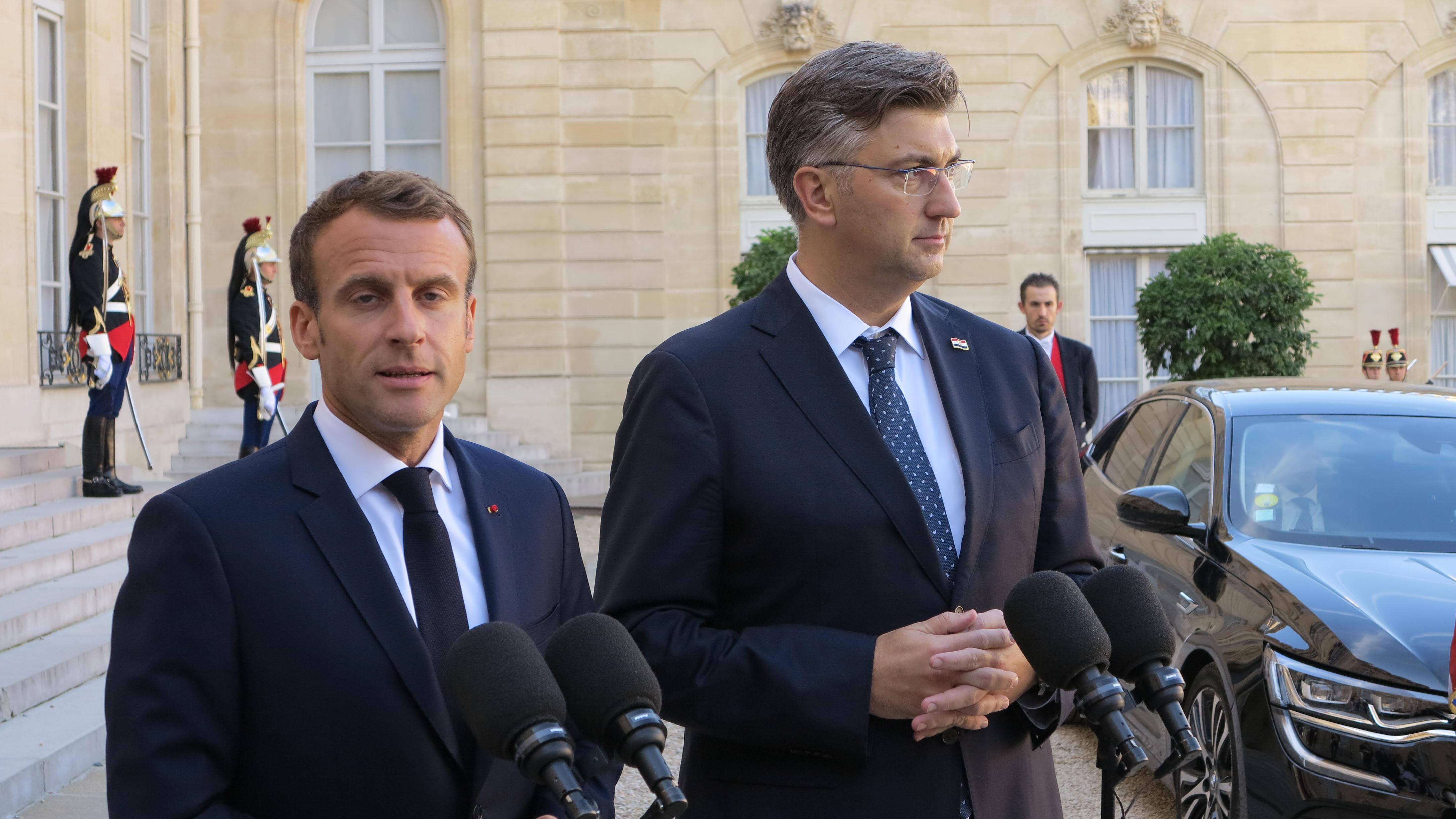 Plenković s Macronom razgovarao o izborima u Bosni i Hercegovini