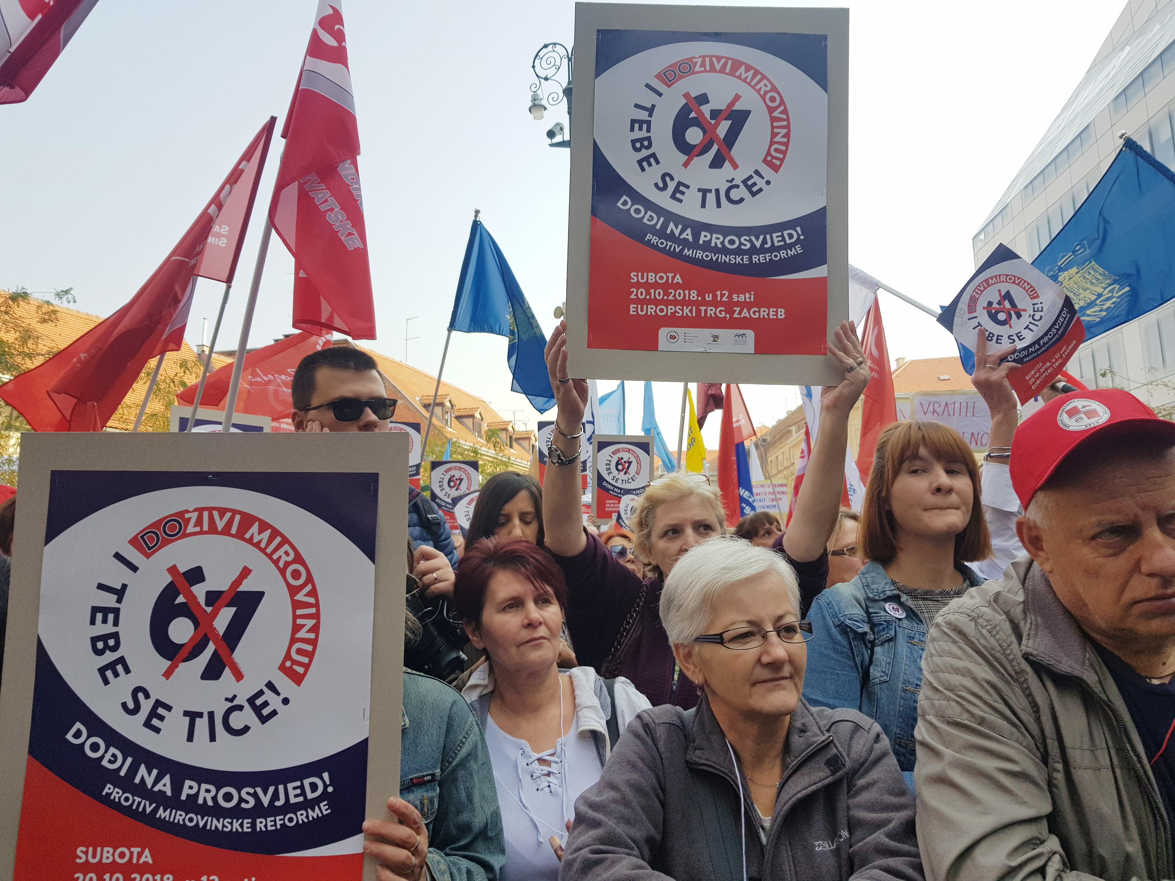 Sindikalisti prosvjeduju protiv mirovinske reforme