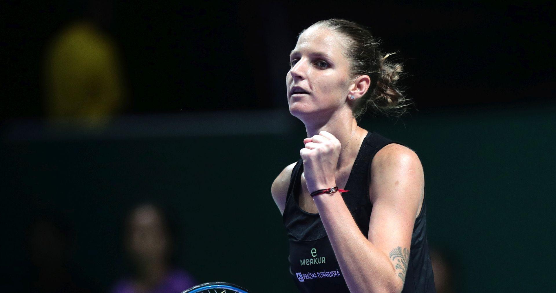 WTA FINALE Pliškova prva polufinalistica
