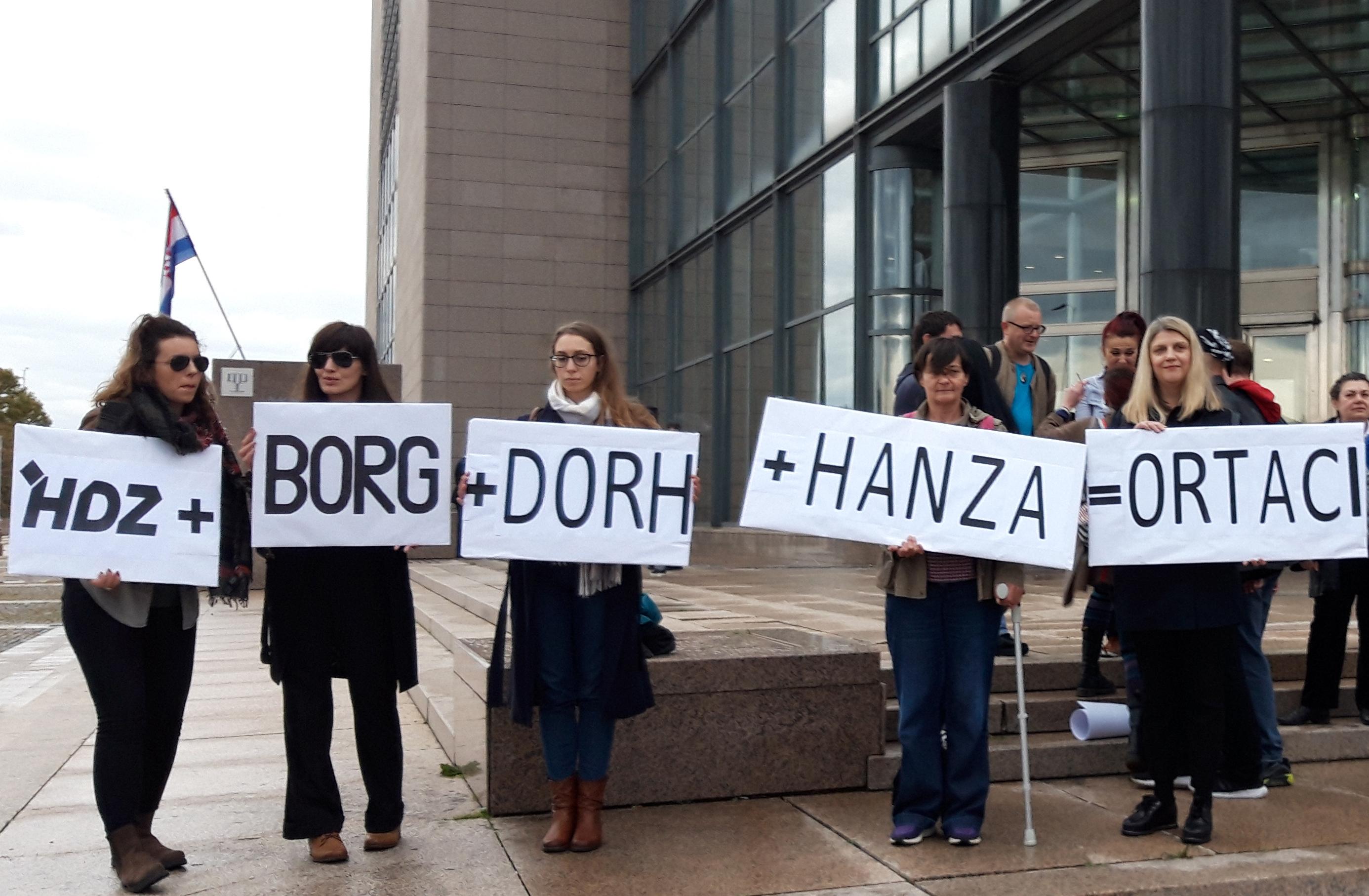 GONG prosvjedovao prije predstavljanja knjige Martine Dalić