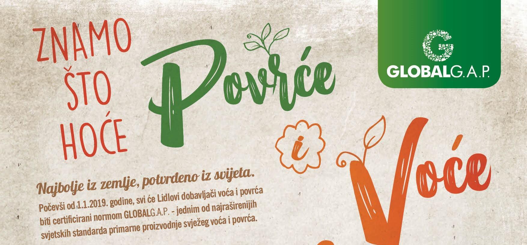 Svi Lidlovi dobavljači voća i povrća će do kraja 2018. imati certifikat GLOBALG.A.P.