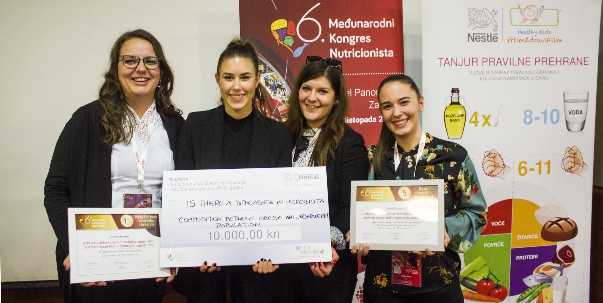 Nestlé dodijelilo stipendiju za daljnju edukaciju mladih znanstvenika