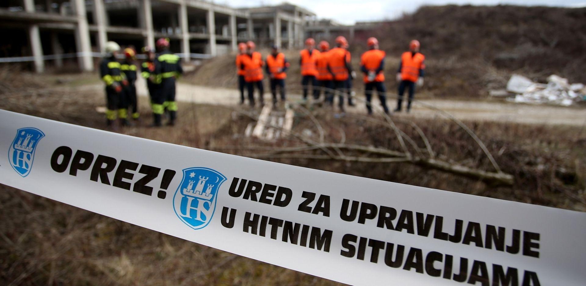 """Vježba civilne zaštite """"Zagreb 2018"""" na području bolnice Blato"""