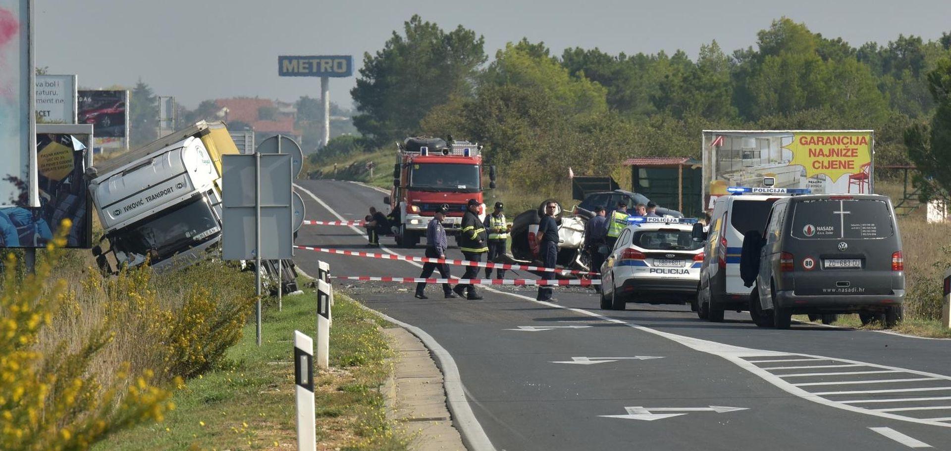 Jedna osoba poginula u teškoj nesreći kod Zadra