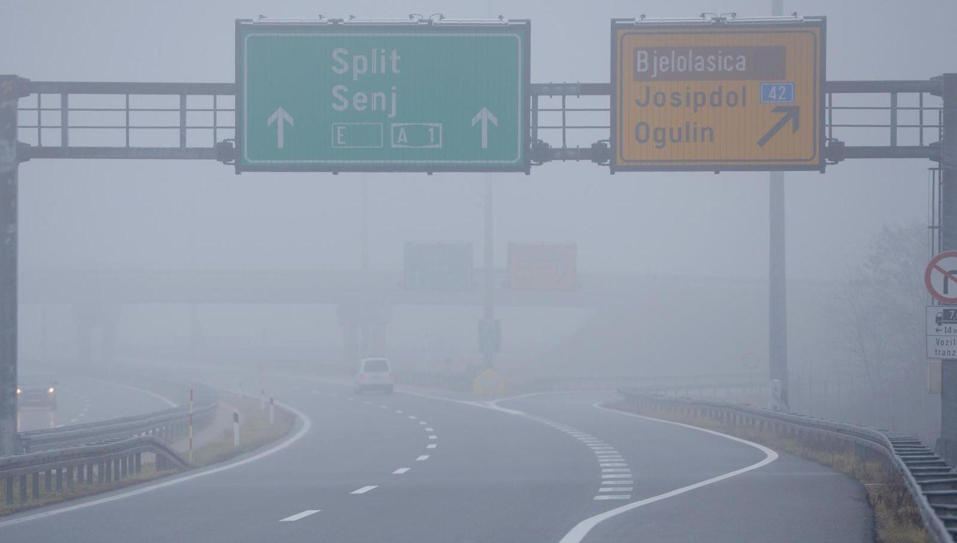 Magla smanjuje vidljivost, oprezno na A1 i A3