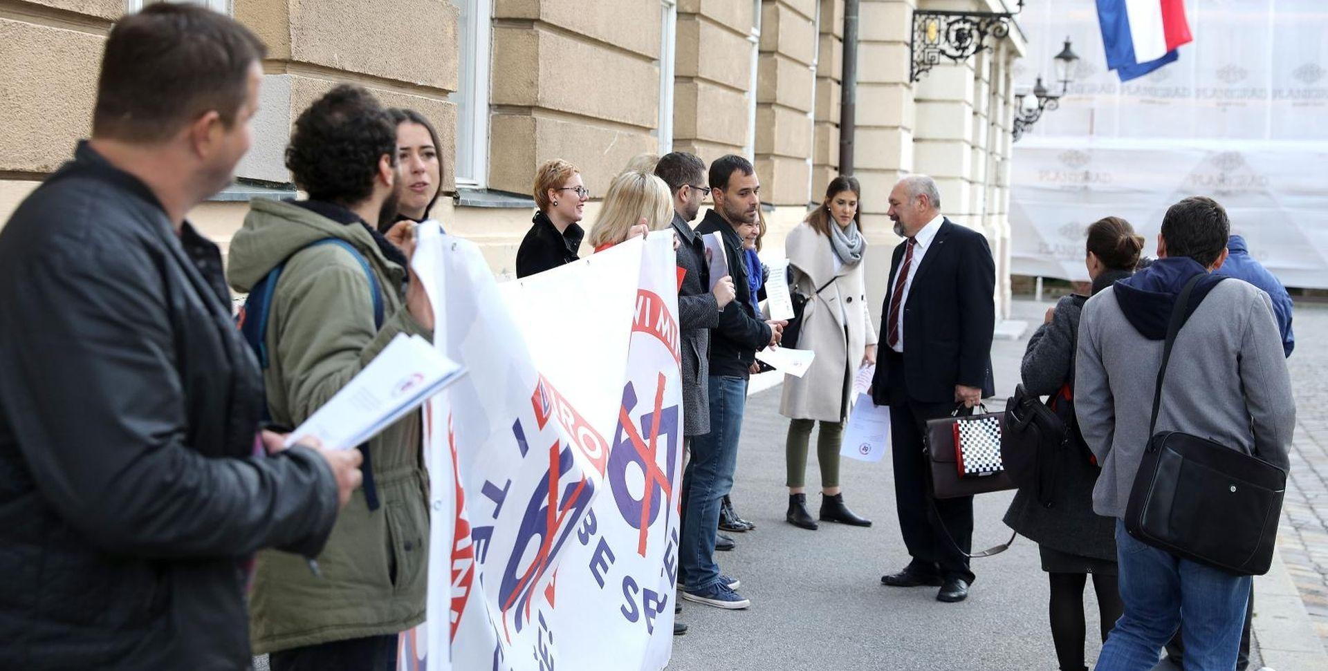 Sindikati prosvjedovali protiv mirovinske reforme