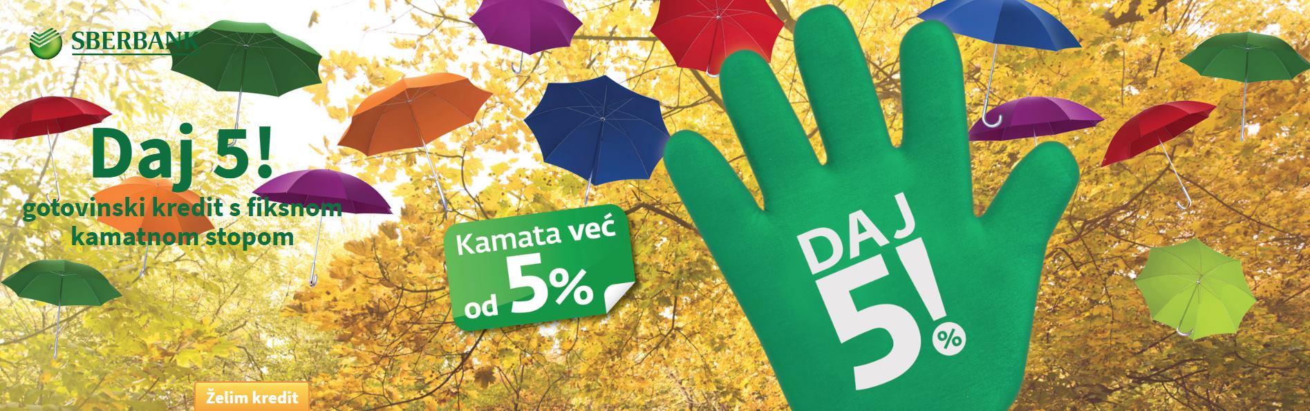 Sberbank Hrvatska pokrenula akciju 'Daj 5!'
