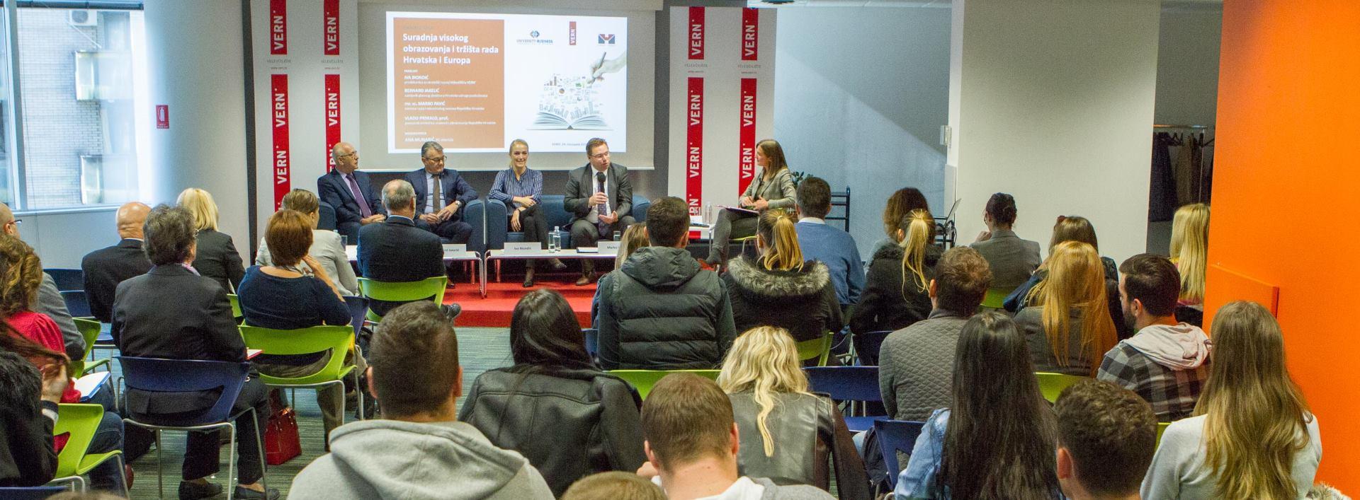VERN' Održan okrugli stol 'Suradnja visokog obrazovanja i tržišta rada – Hrvatska i Europa'