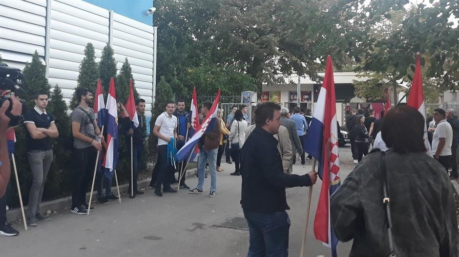 MOSTAR Studentski prosvjed zbog Komšića