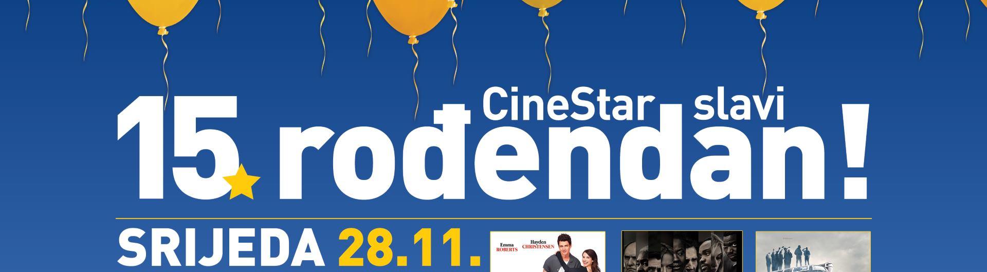 CineStar slavi petnaesti rođendan