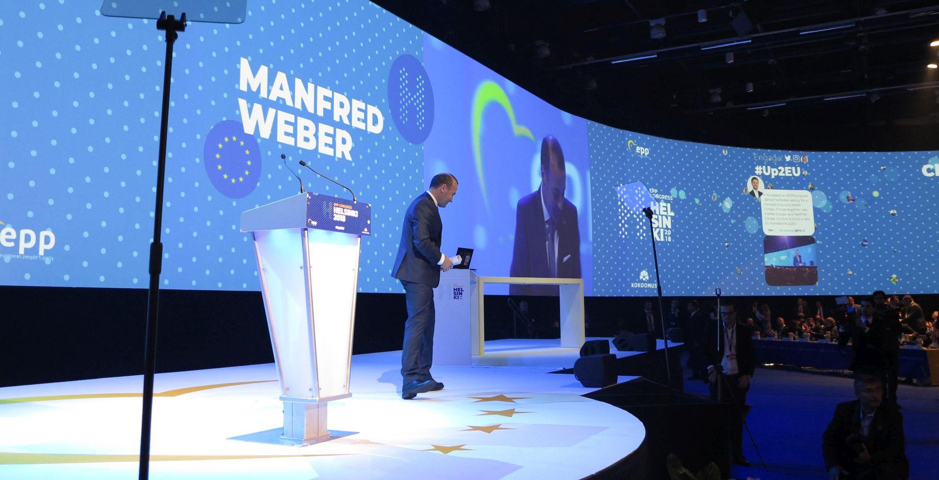 Weber kandidat EPP-a na europskim izborima