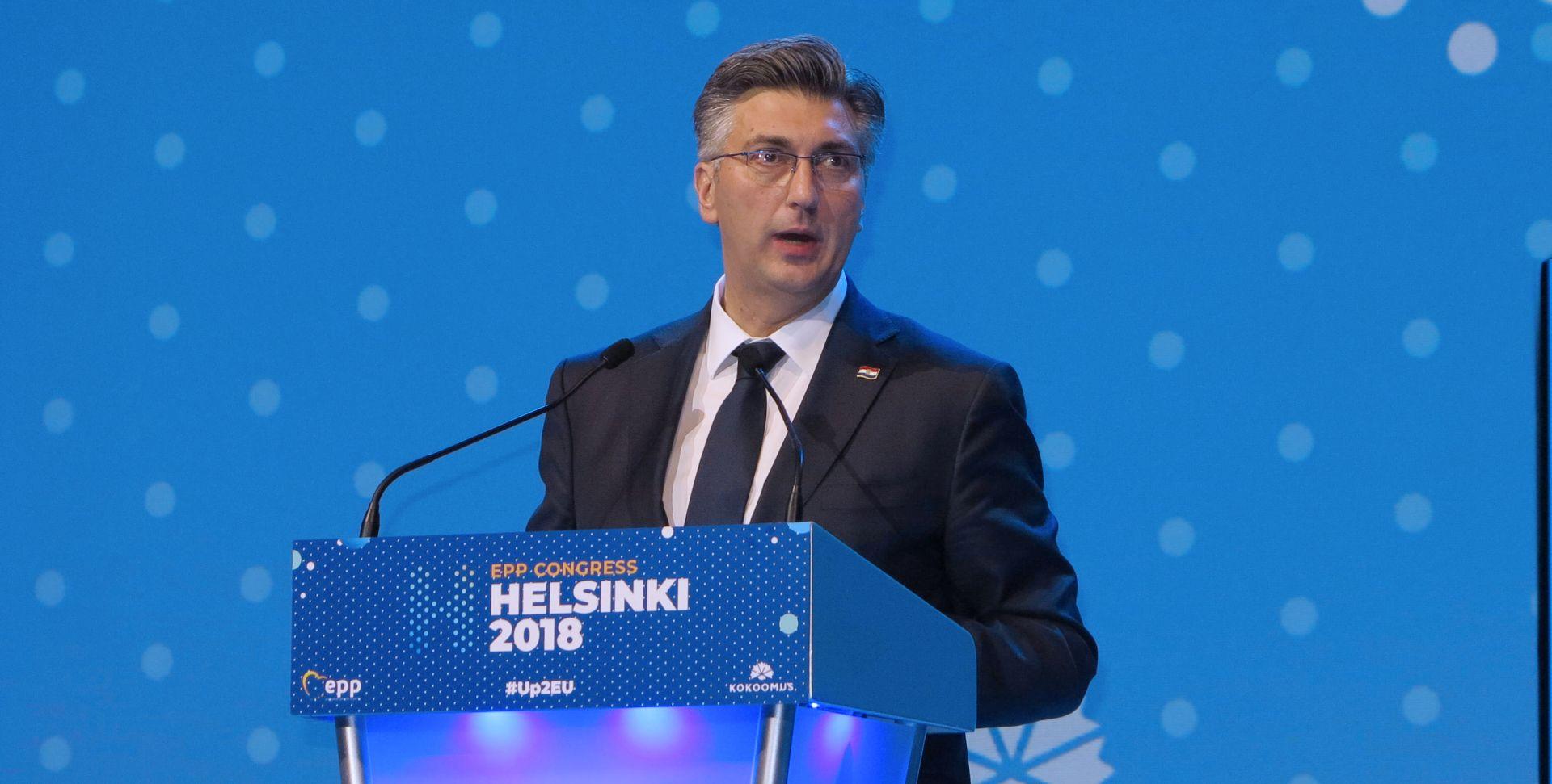 Plenković na kongresu EPP-a snažno osudio populizam