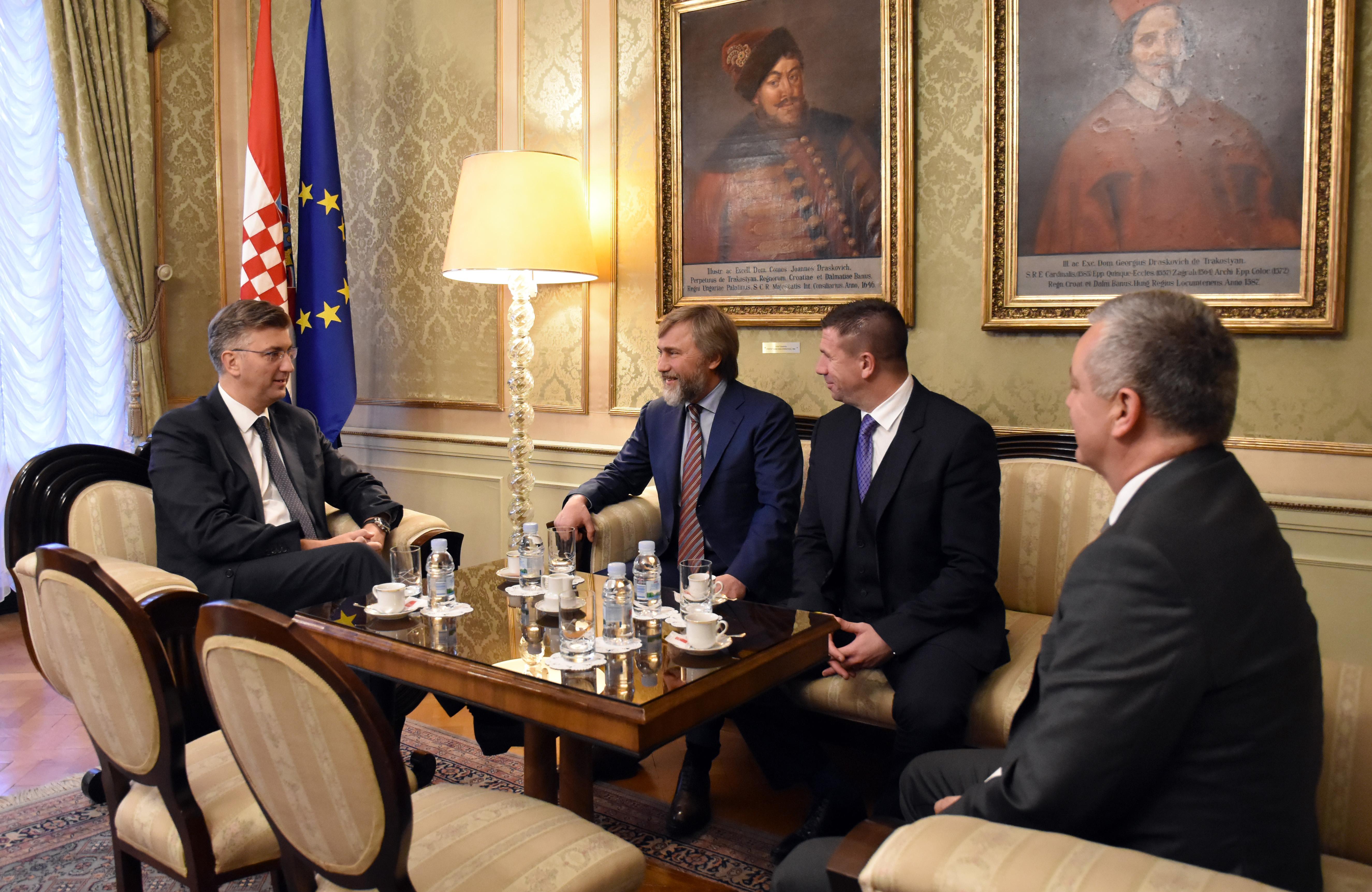 Plenković razgovarao o Uljaniku s ulagačima iz Ukrajine